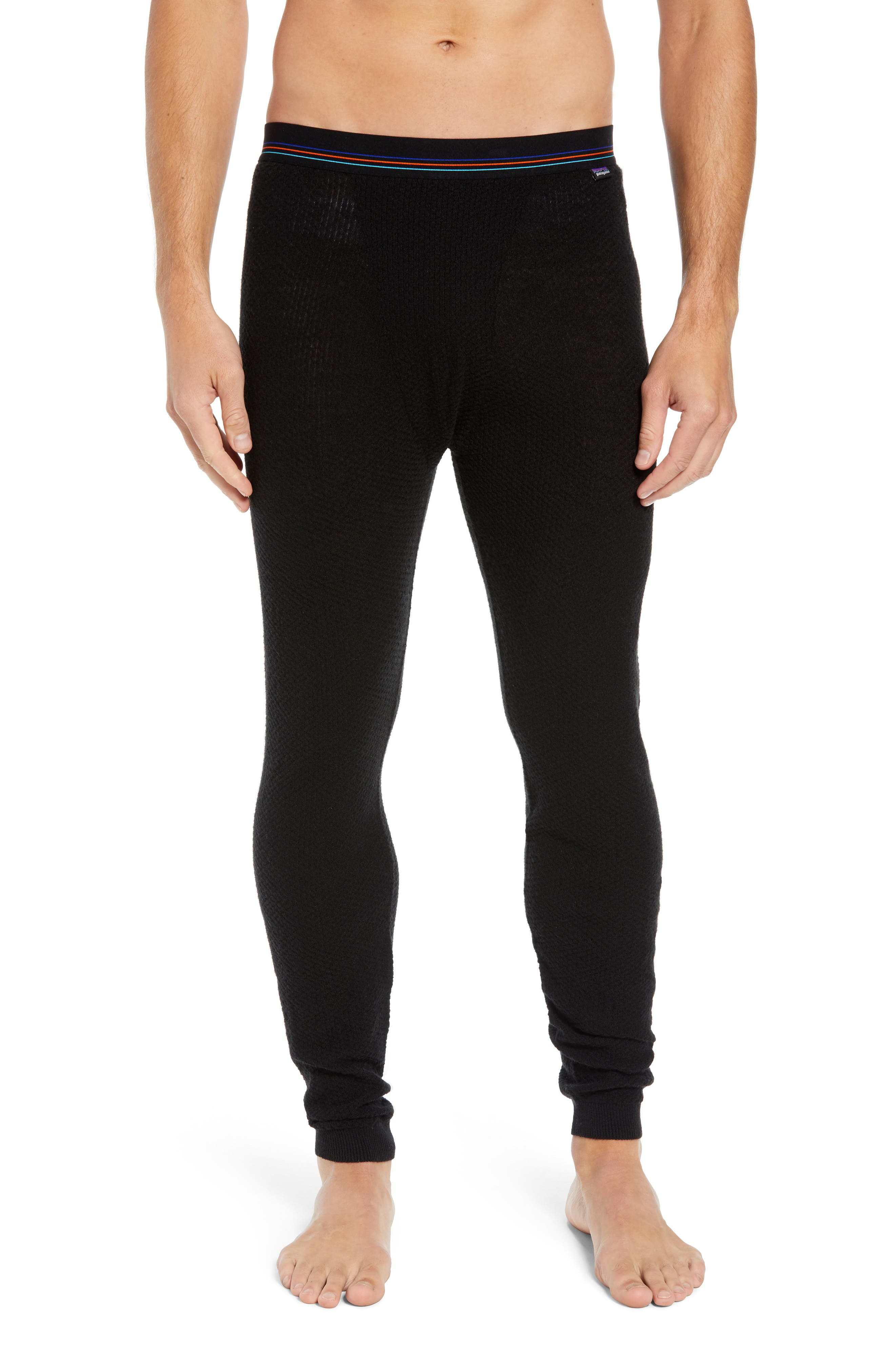 Capilene<sup>®</sup> Thermal Weight Base Layer Pants,                         Main,                         color, BLACK