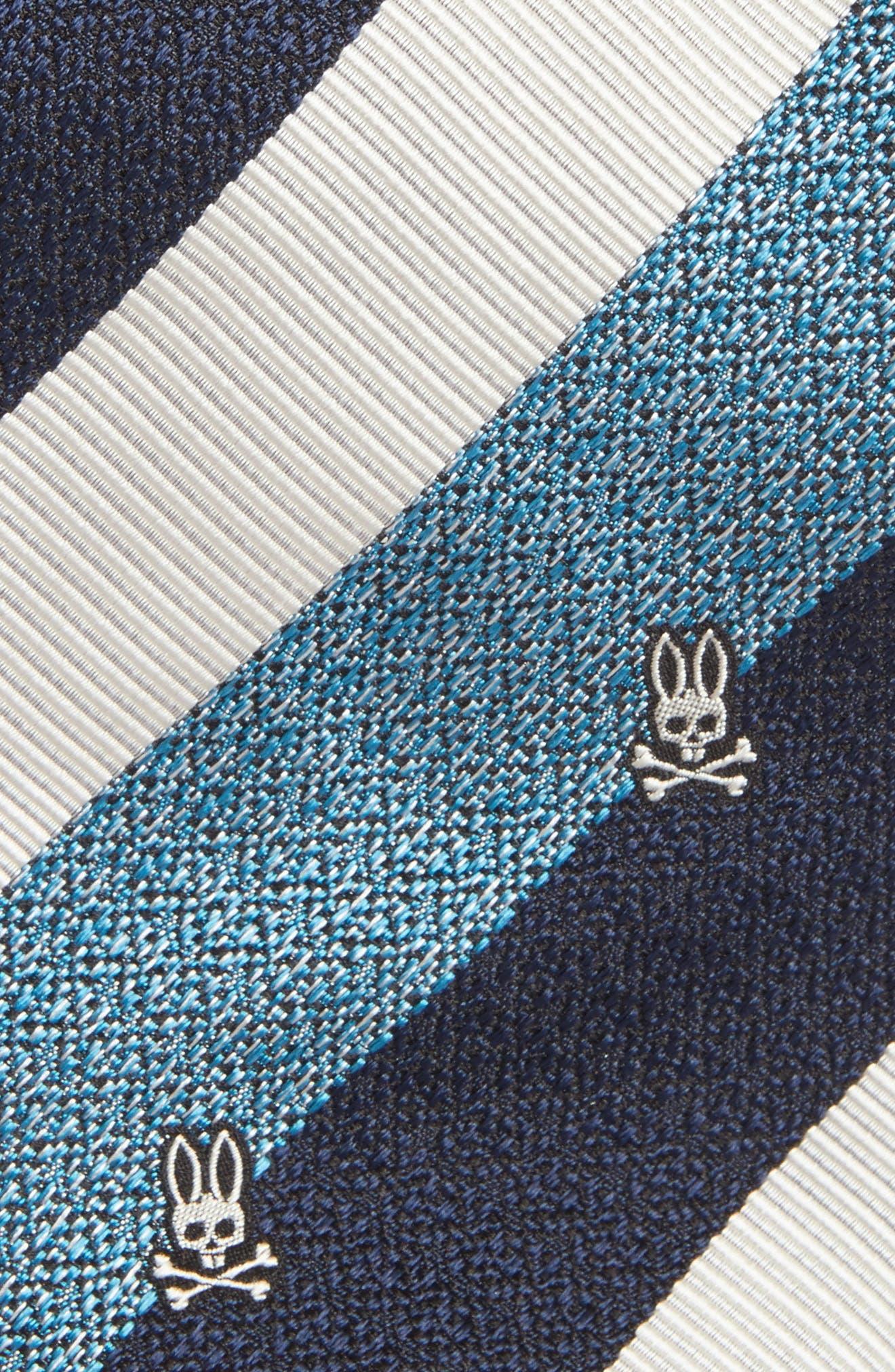Wide Stripe Silk Tie,                             Alternate thumbnail 8, color,