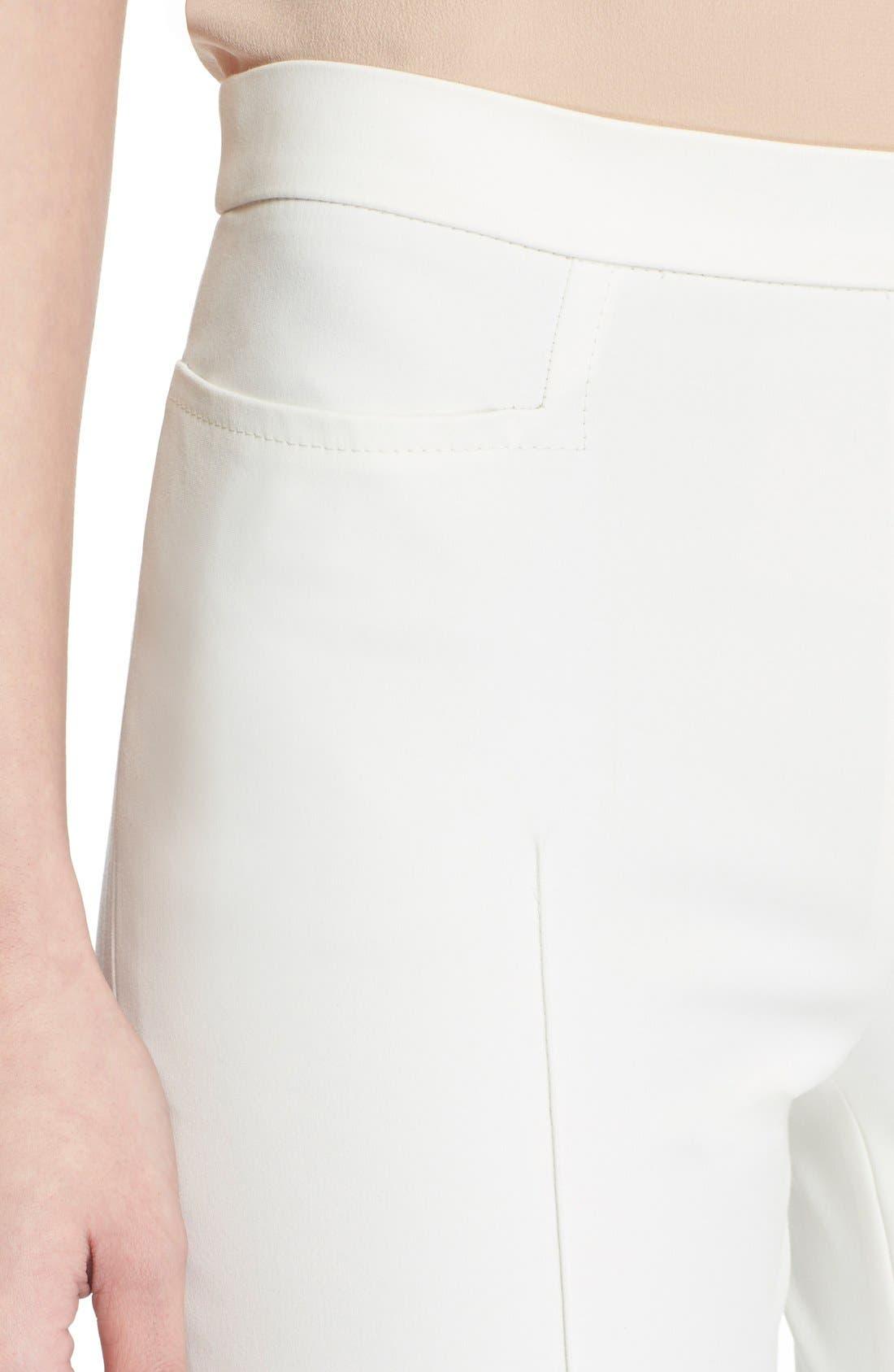 'Franca' Techno Cotton Blend Ankle Pants,                             Alternate thumbnail 10, color,                             ECRU