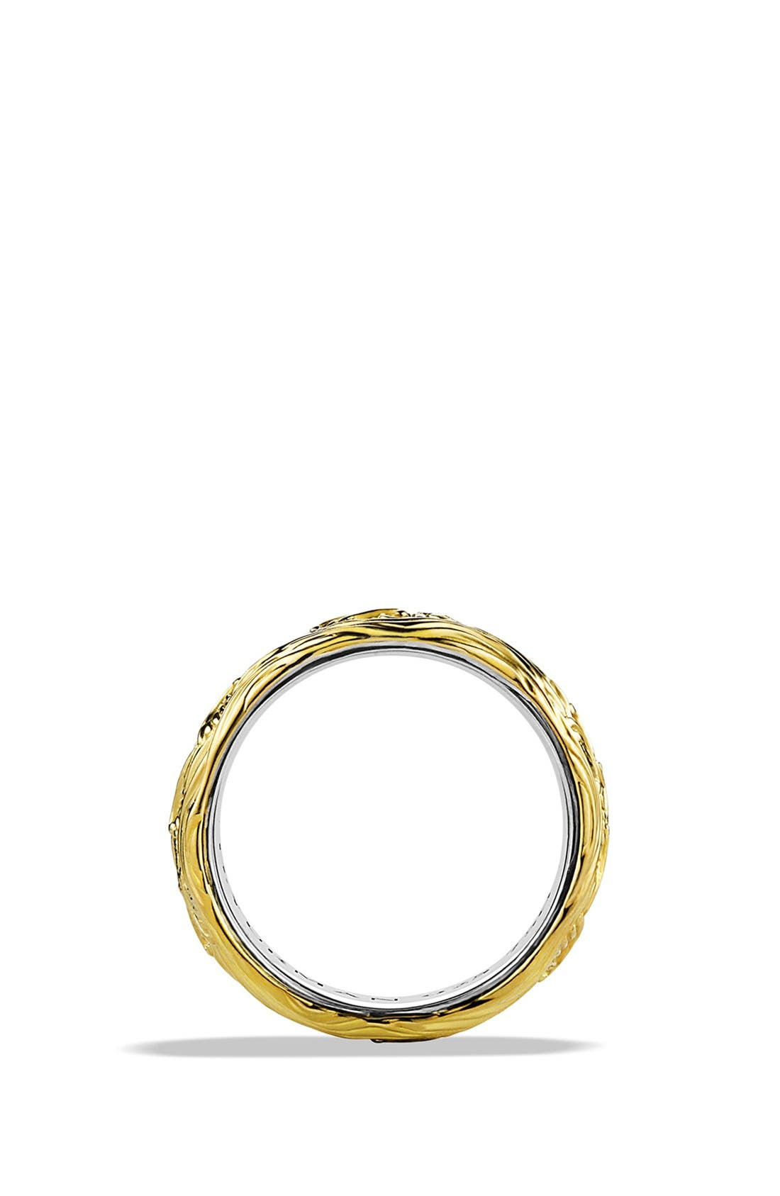 'Waves' Band Ring with Gold,                             Alternate thumbnail 3, color,                             TWO TONE