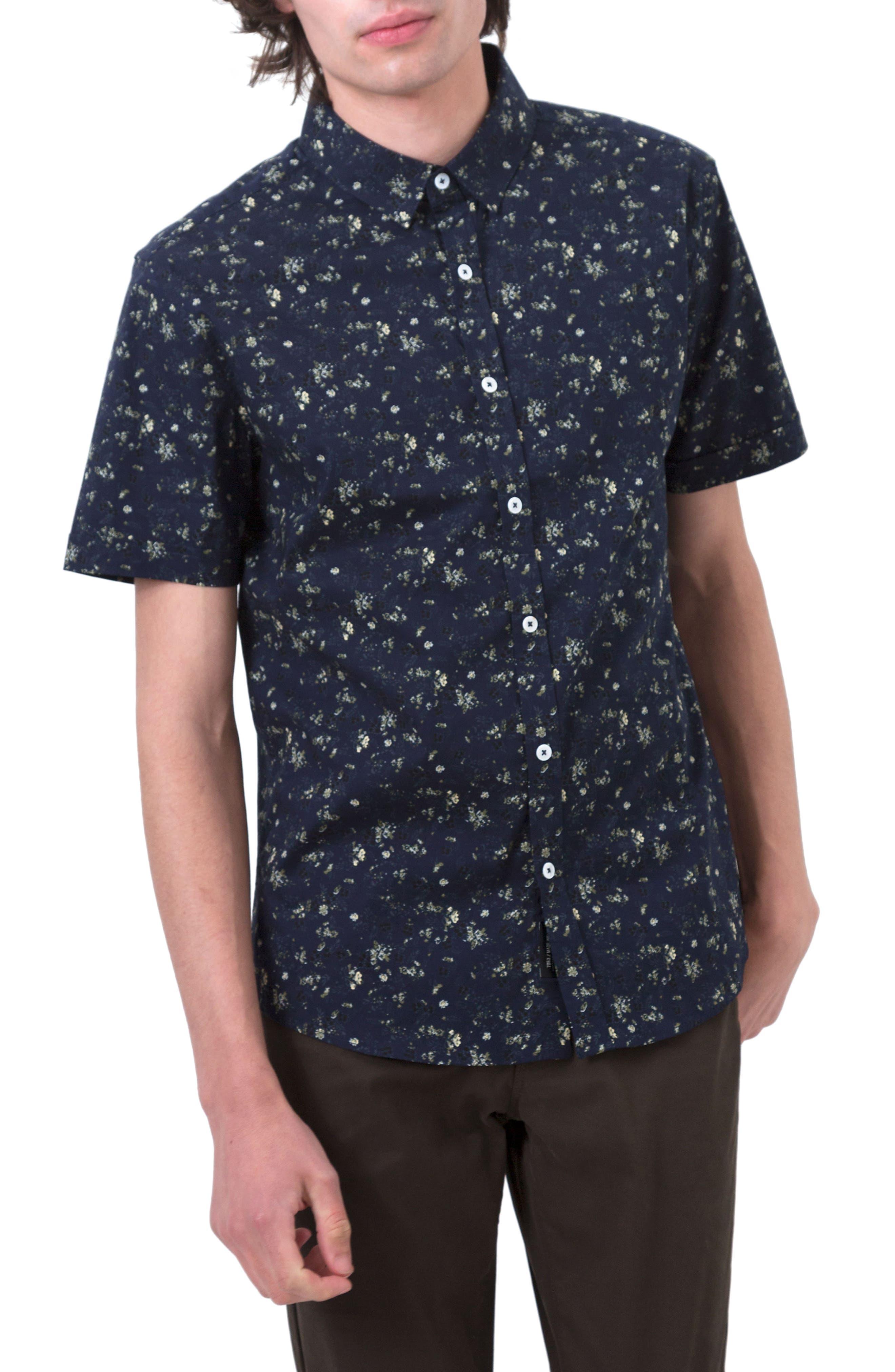 Jungle Youth Trim Fit Short Sleeve Sport Shirt,                             Main thumbnail 1, color,                             410