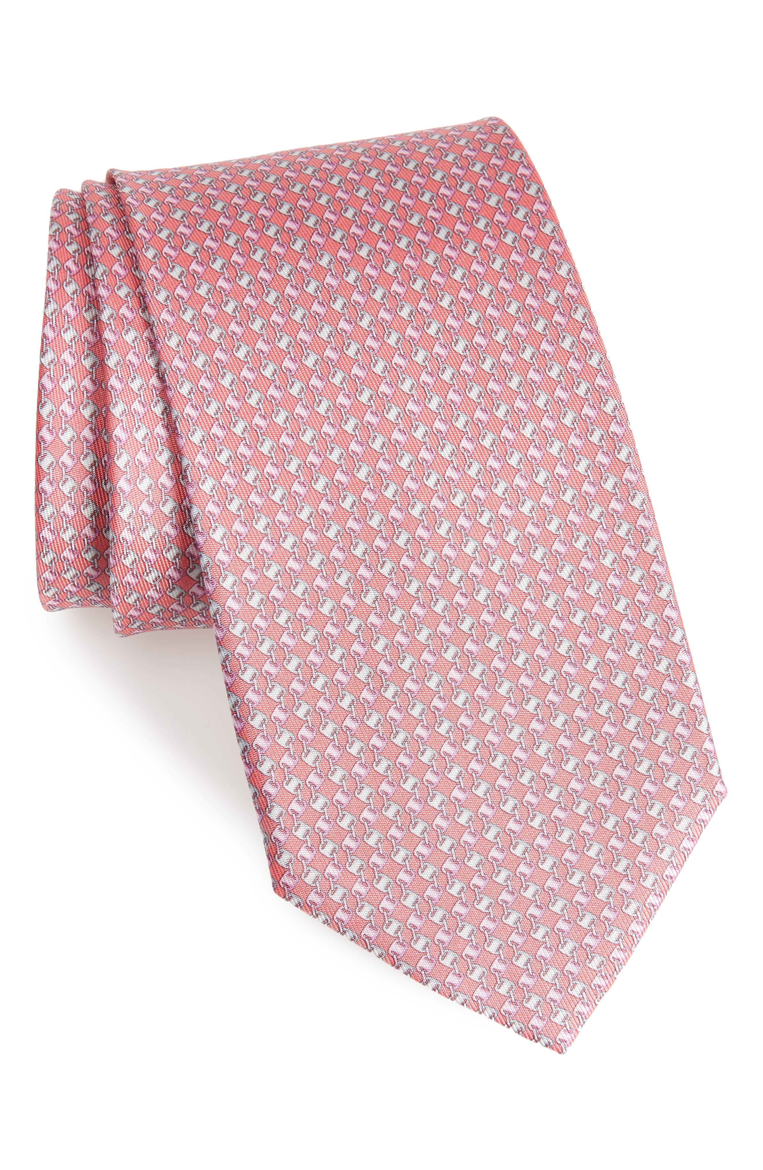 Oara Print Silk Tie,                             Main thumbnail 2, color,