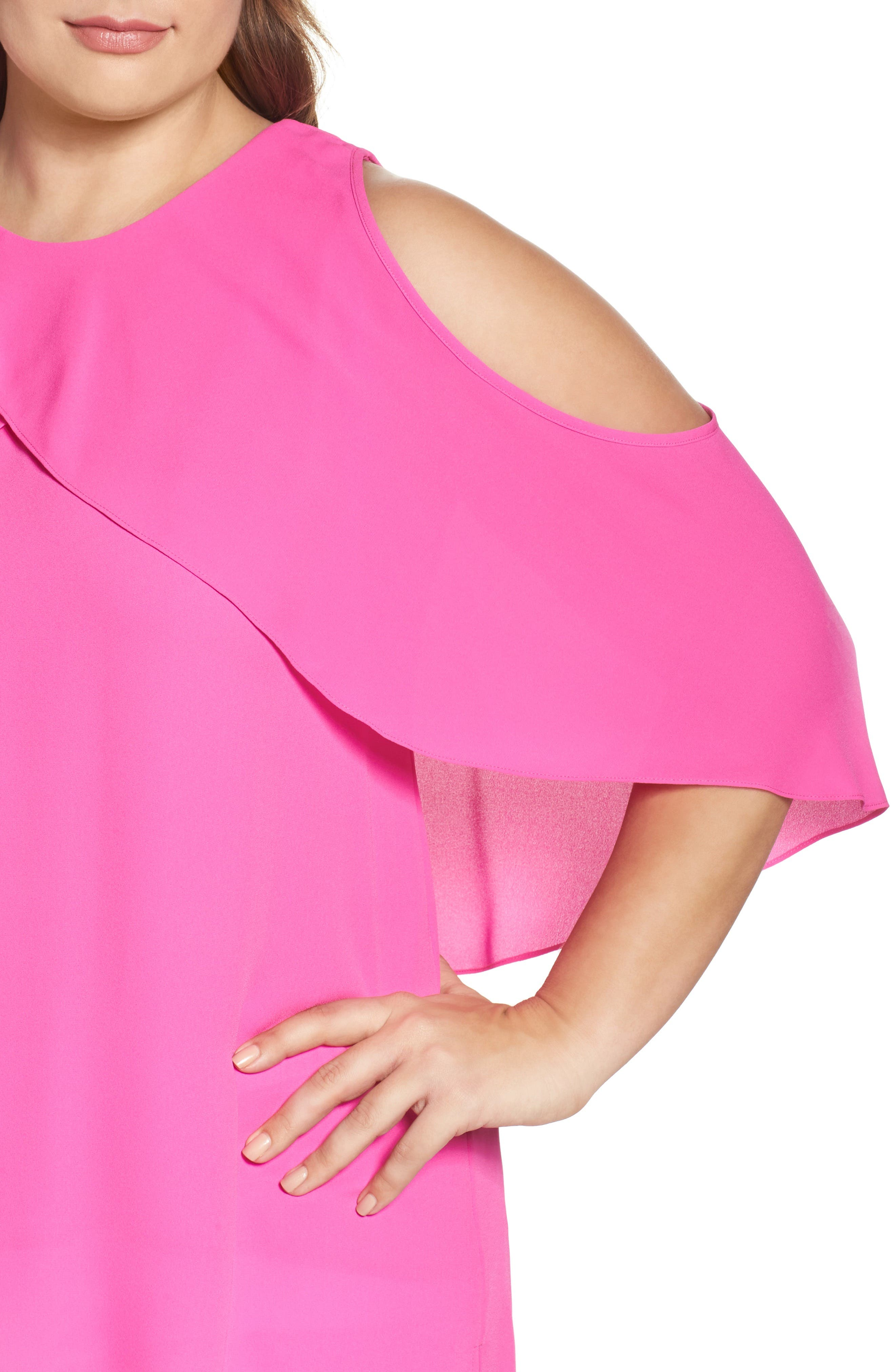 Cold Shoulder Ruffled Blouse,                             Alternate thumbnail 20, color,