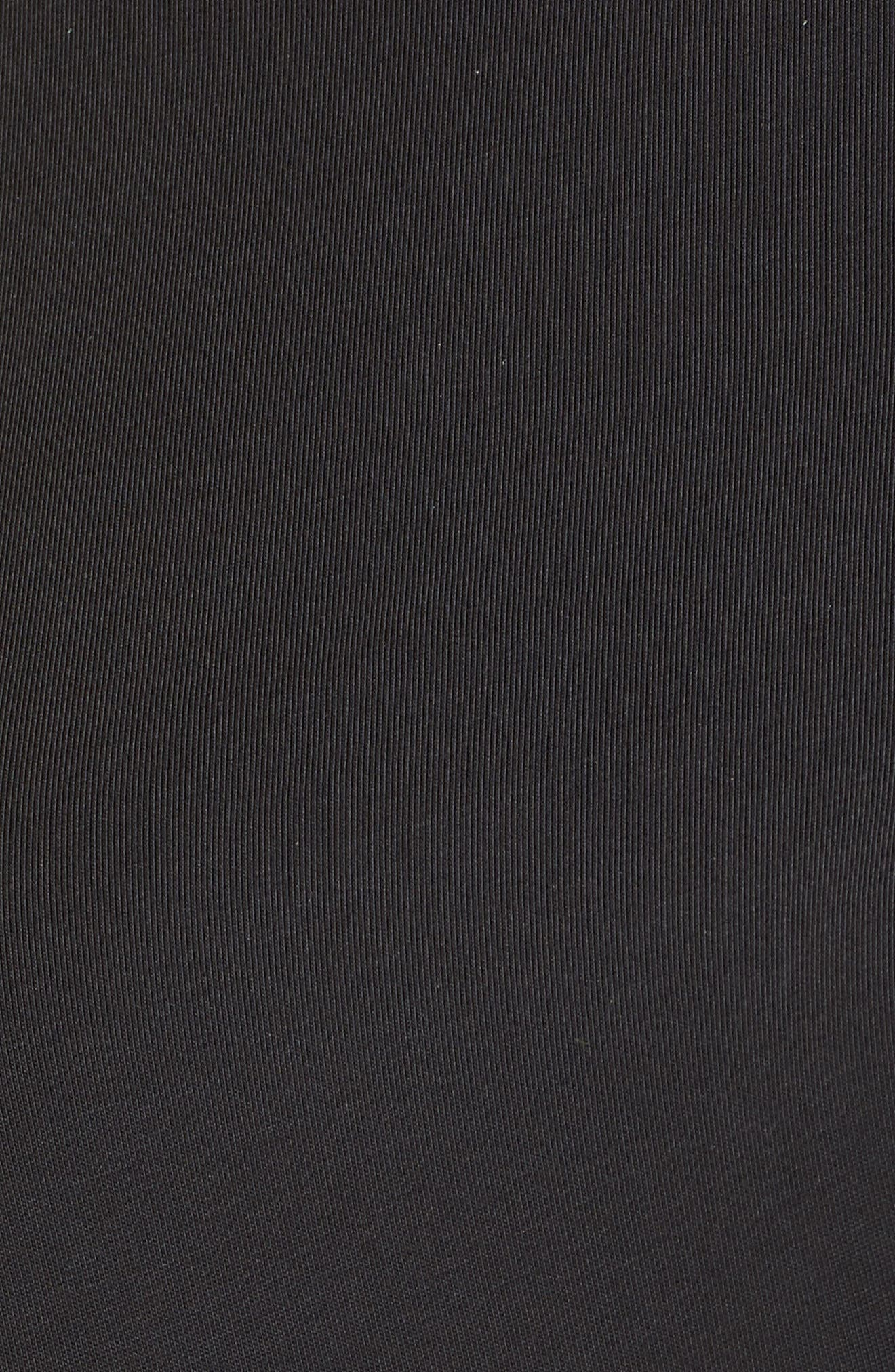 Ruched Waist Tee,                             Alternate thumbnail 6, color,                             001