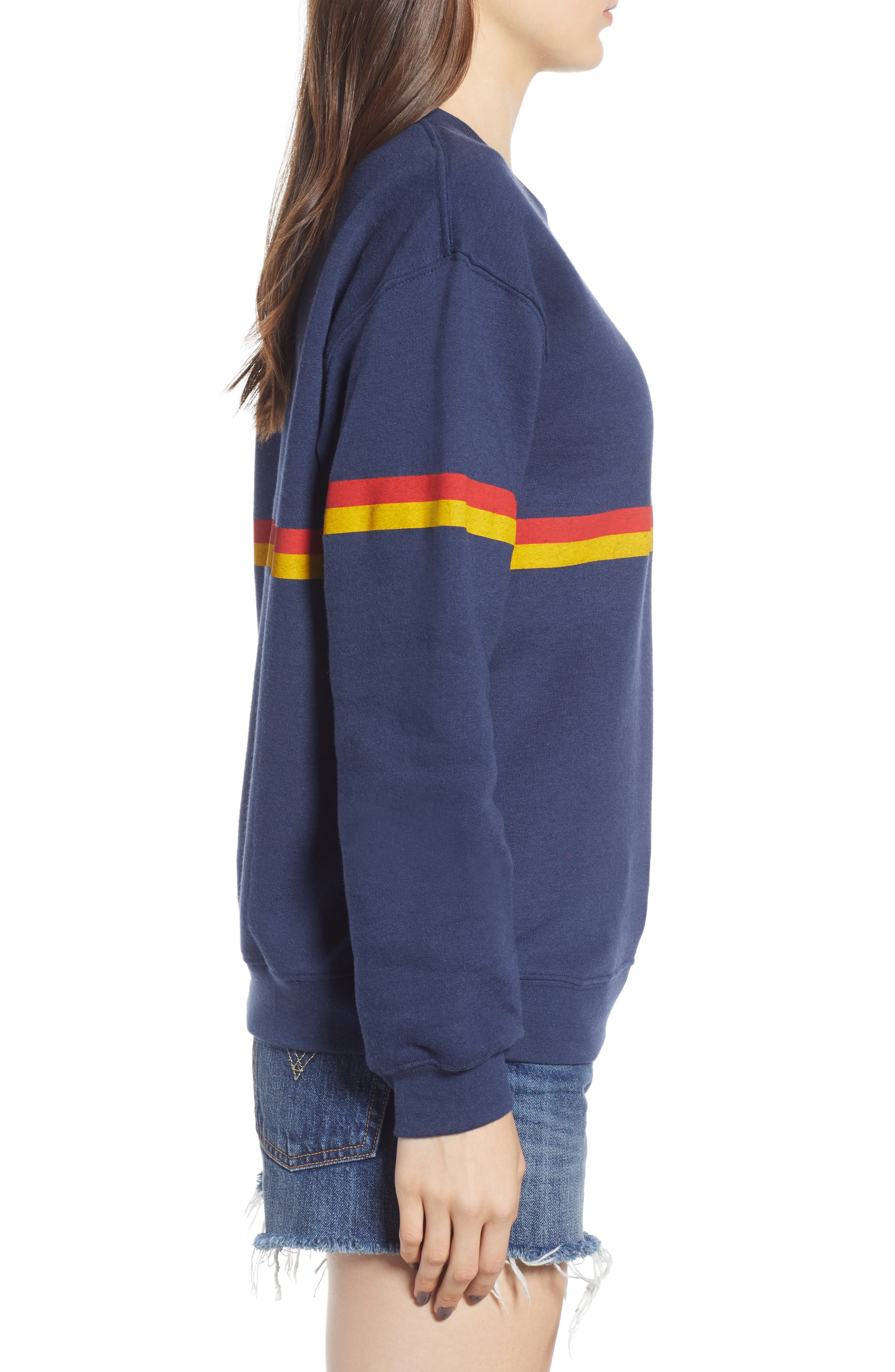 Zelda Willow Stripe Sweatshirt,                             Alternate thumbnail 3, color,                             410