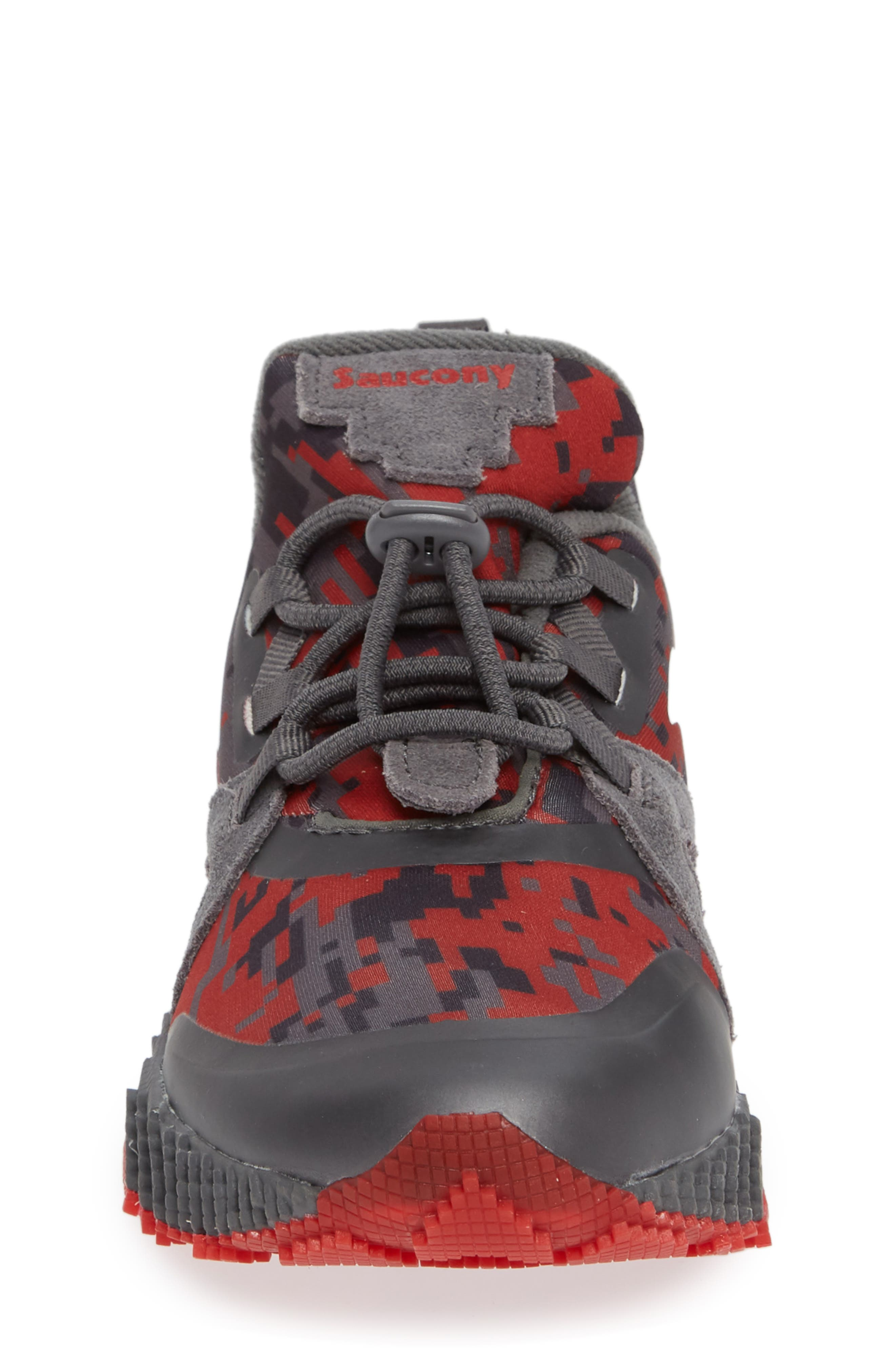 Voxel 9000 Sneaker,                             Alternate thumbnail 4, color,                             GREY LEATHER/ MESH 2
