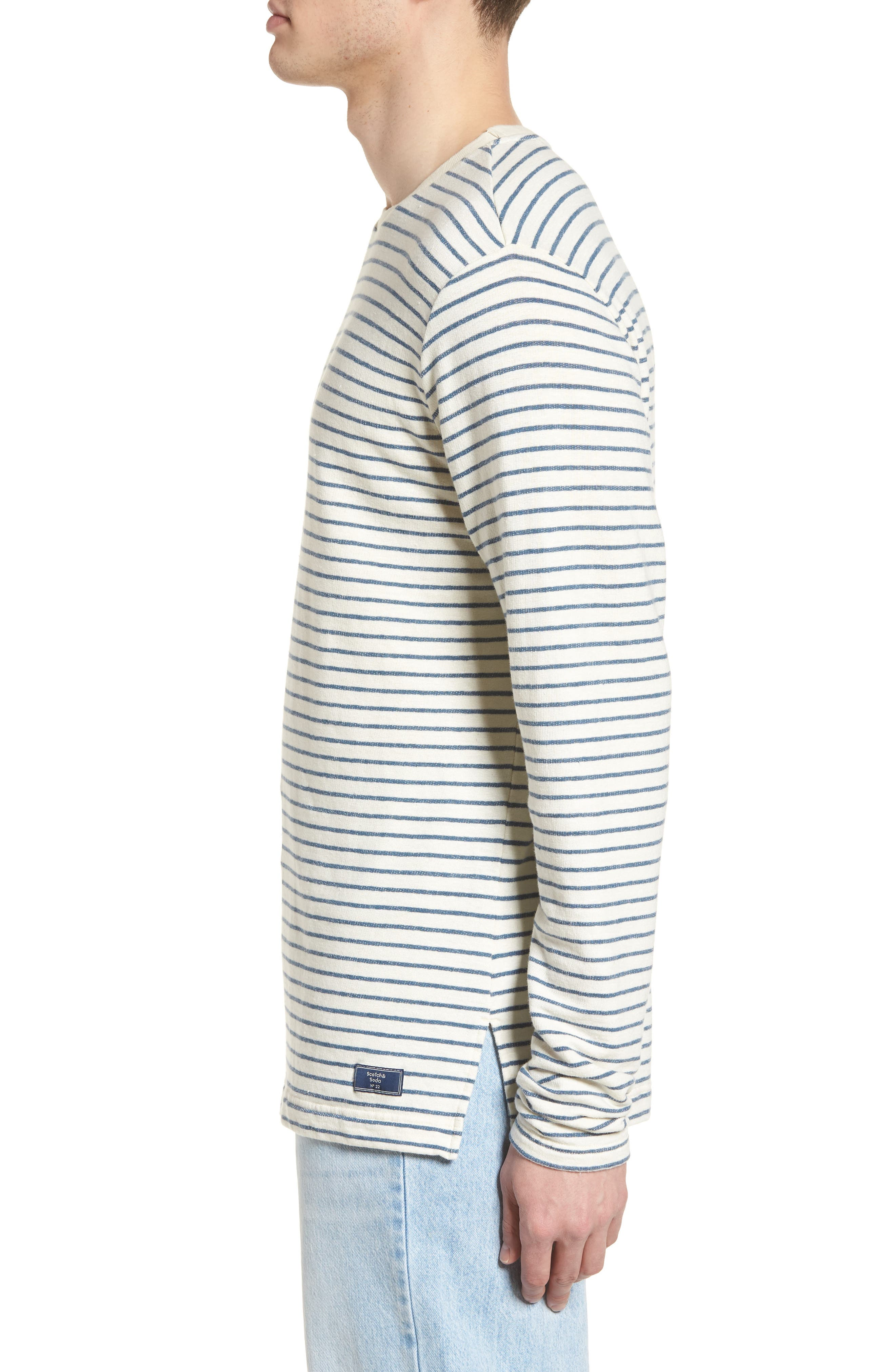 Stripe Crewneck Sweater,                             Alternate thumbnail 3, color,                             250
