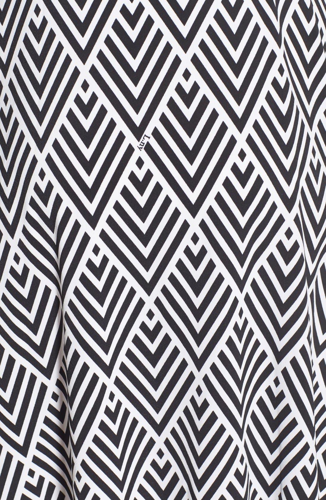 'Ilana' Belted Maternity Dress,                             Alternate thumbnail 3, color,                             001