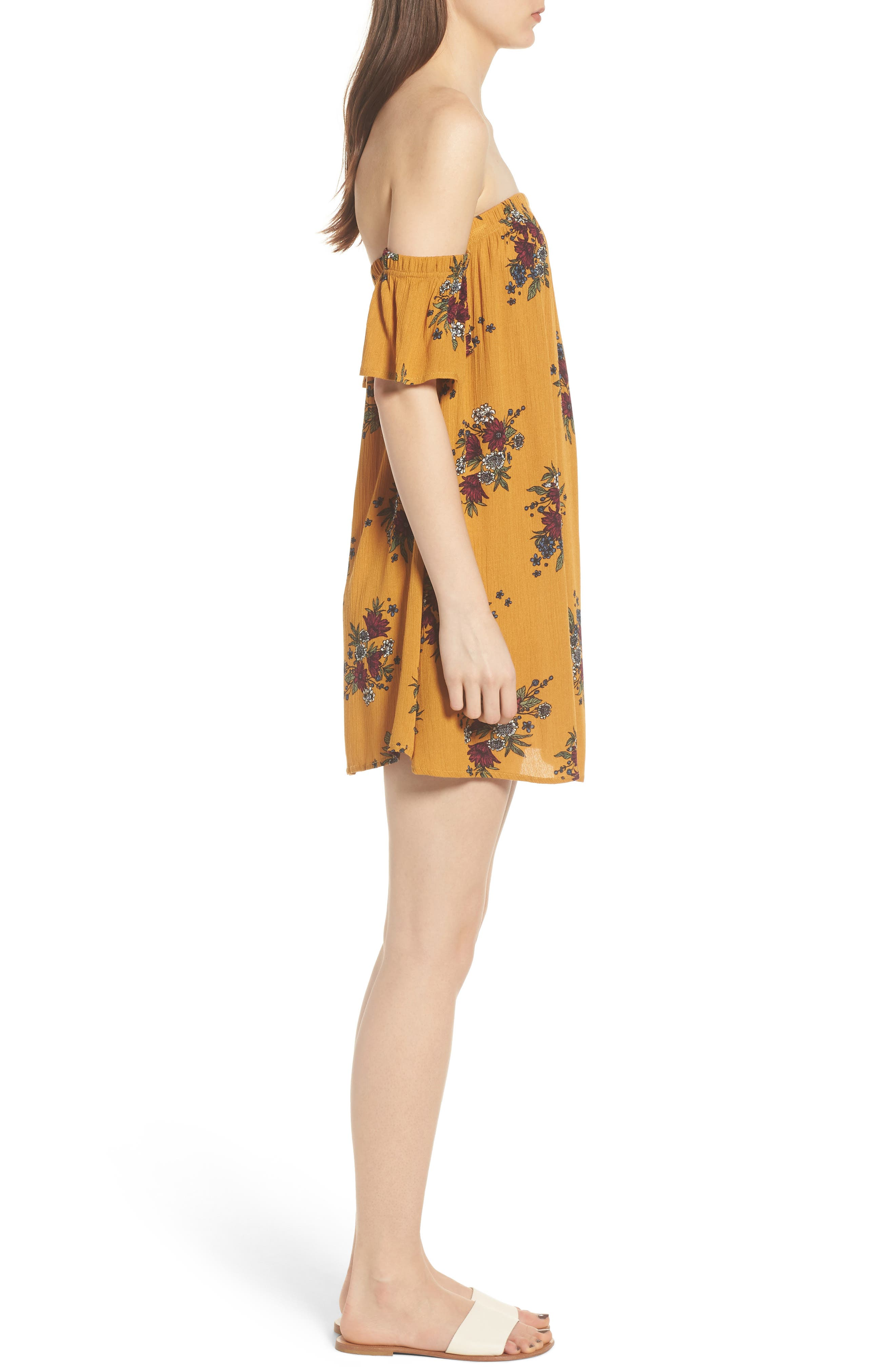 Road to Indio Print Off the Shoulder Dress,                             Alternate thumbnail 6, color,