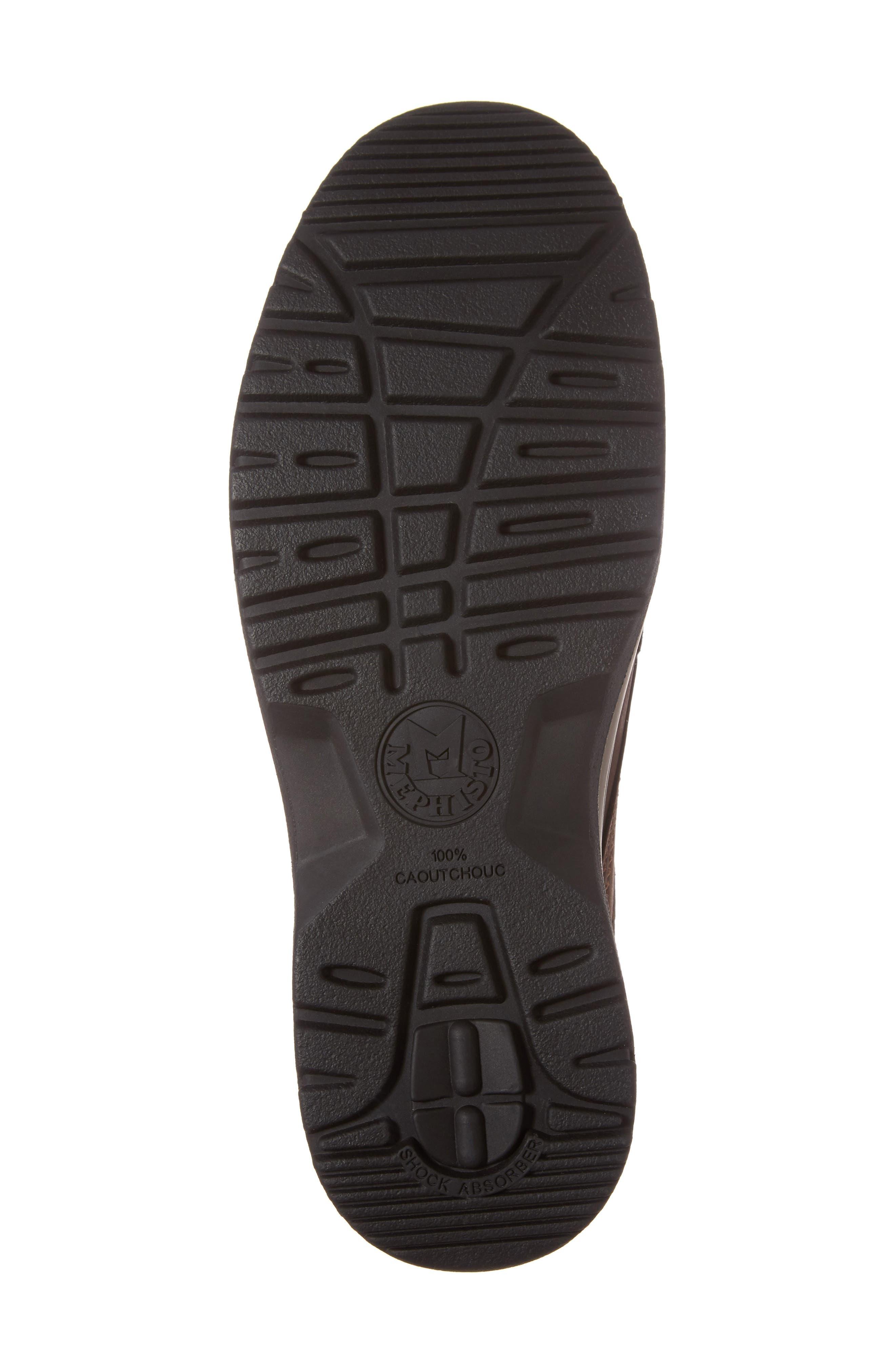 Charles Waterproof Walking Shoe,                             Alternate thumbnail 6, color,                             DARK BROWN
