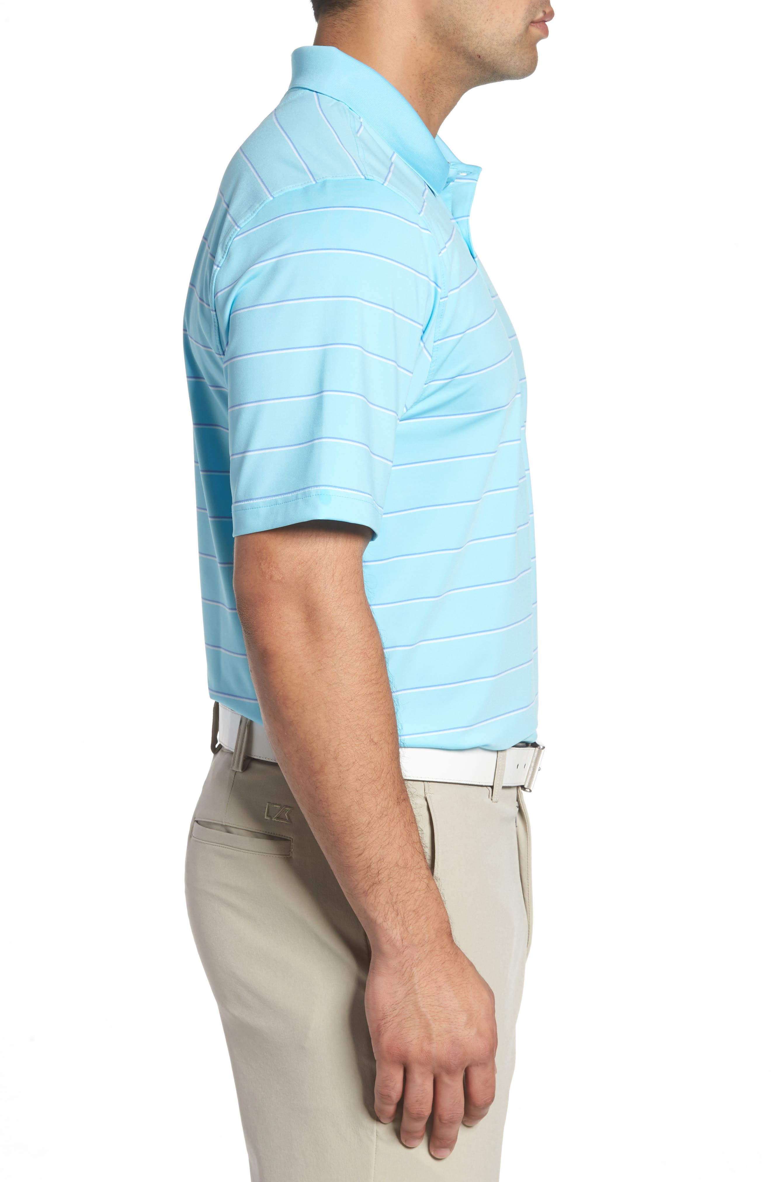 Friday Harbor Stripe Polo,                             Alternate thumbnail 3, color,                             449