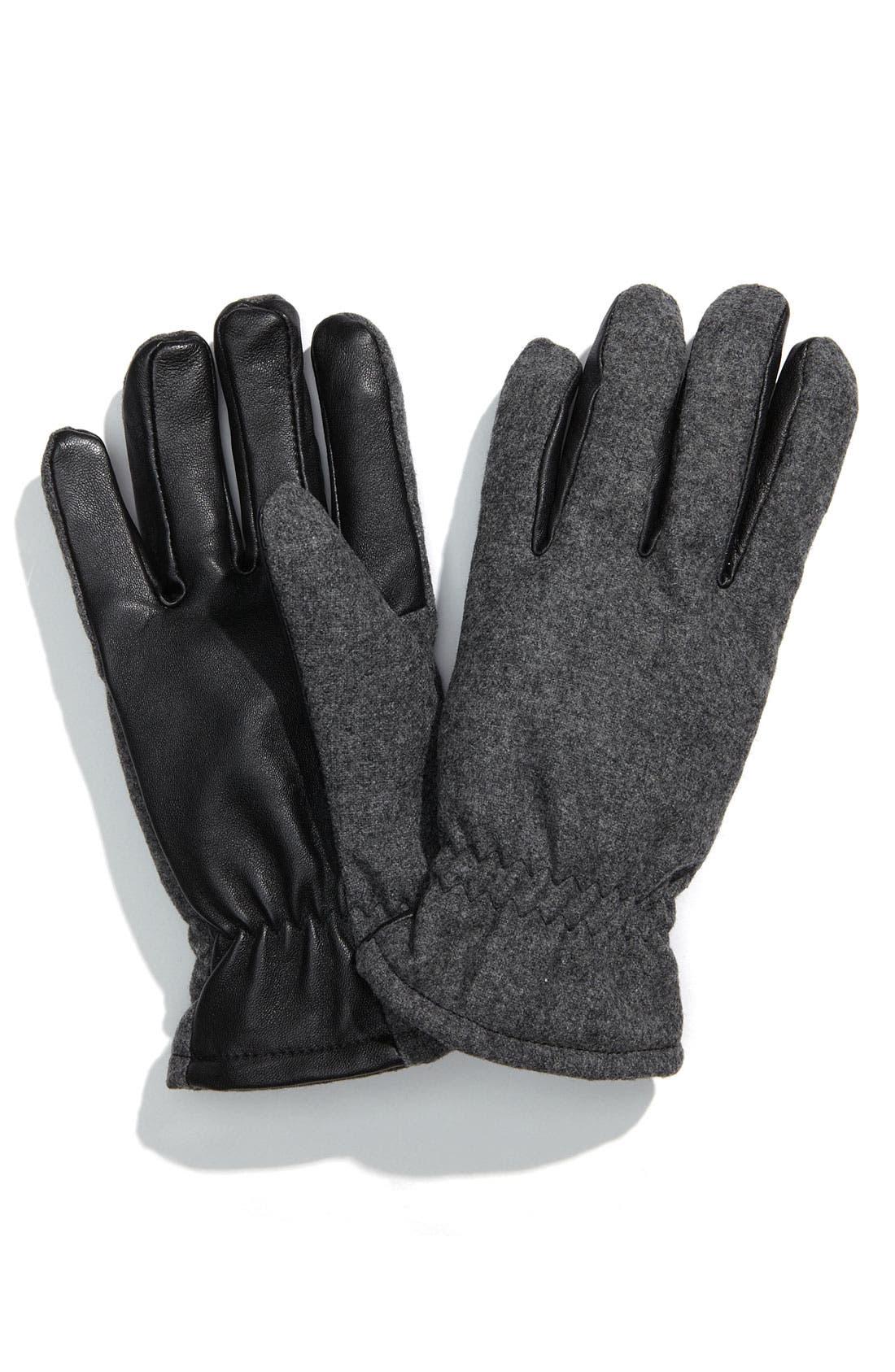 GRANDOE GLOVES,                             'Classic Sensor Touch' Gloves,                             Main thumbnail 1, color,                             098