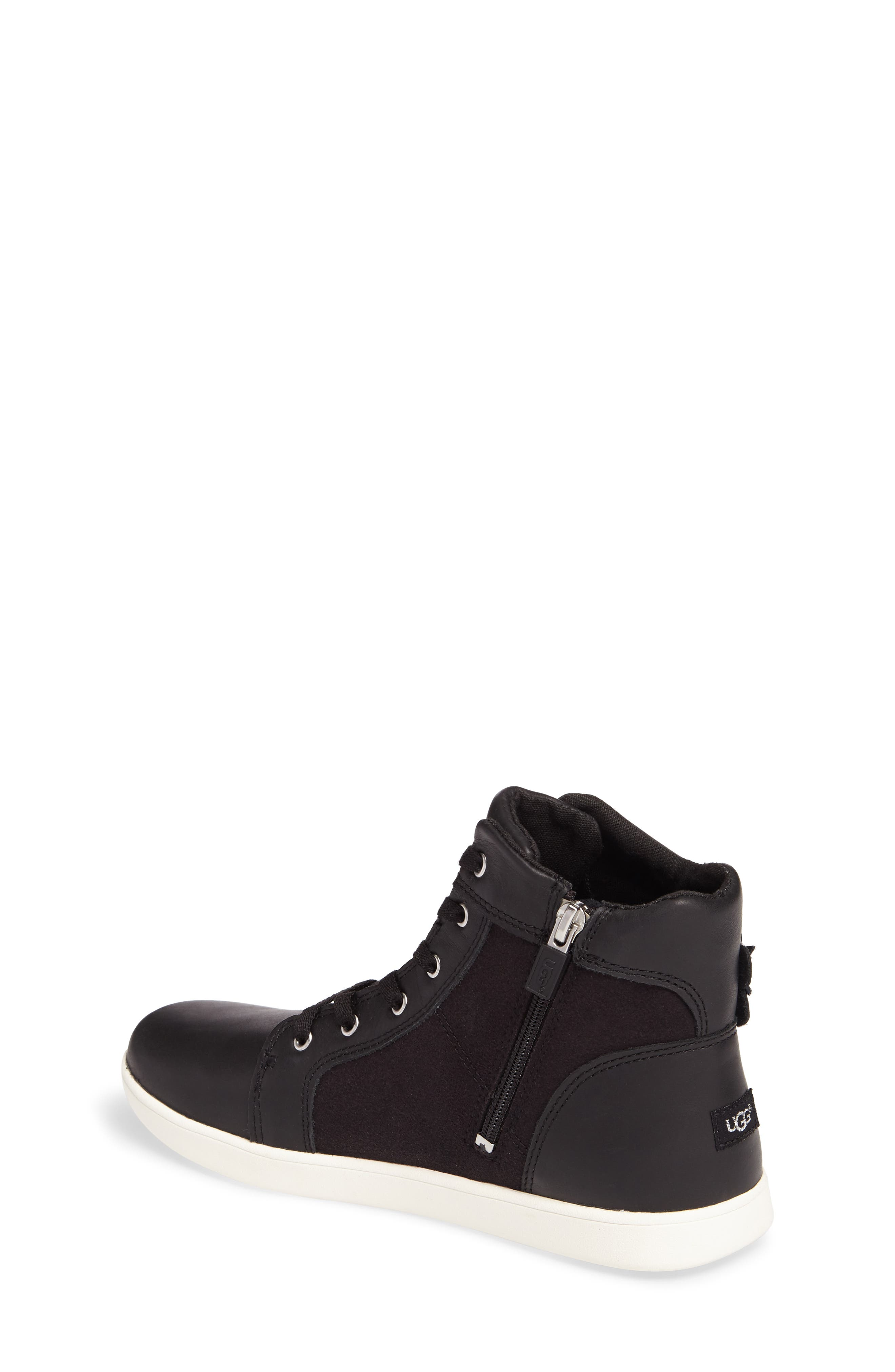 Schyler Petal Embellished High Top Sneaker,                             Alternate thumbnail 2, color,                             001