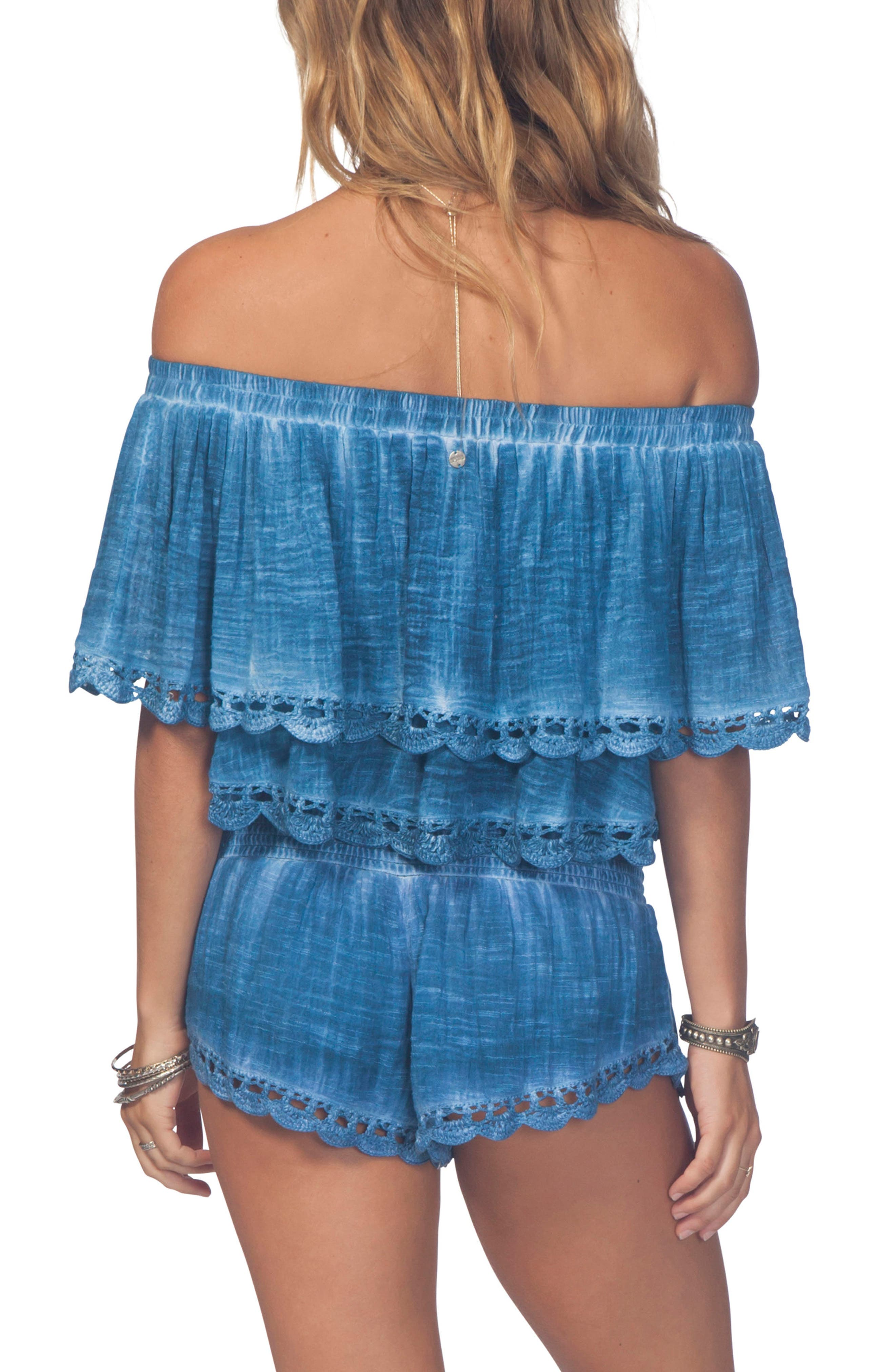RIP CURL,                             Dream Beam Off-the-Shoulder Crop Top,                             Alternate thumbnail 2, color,                             401