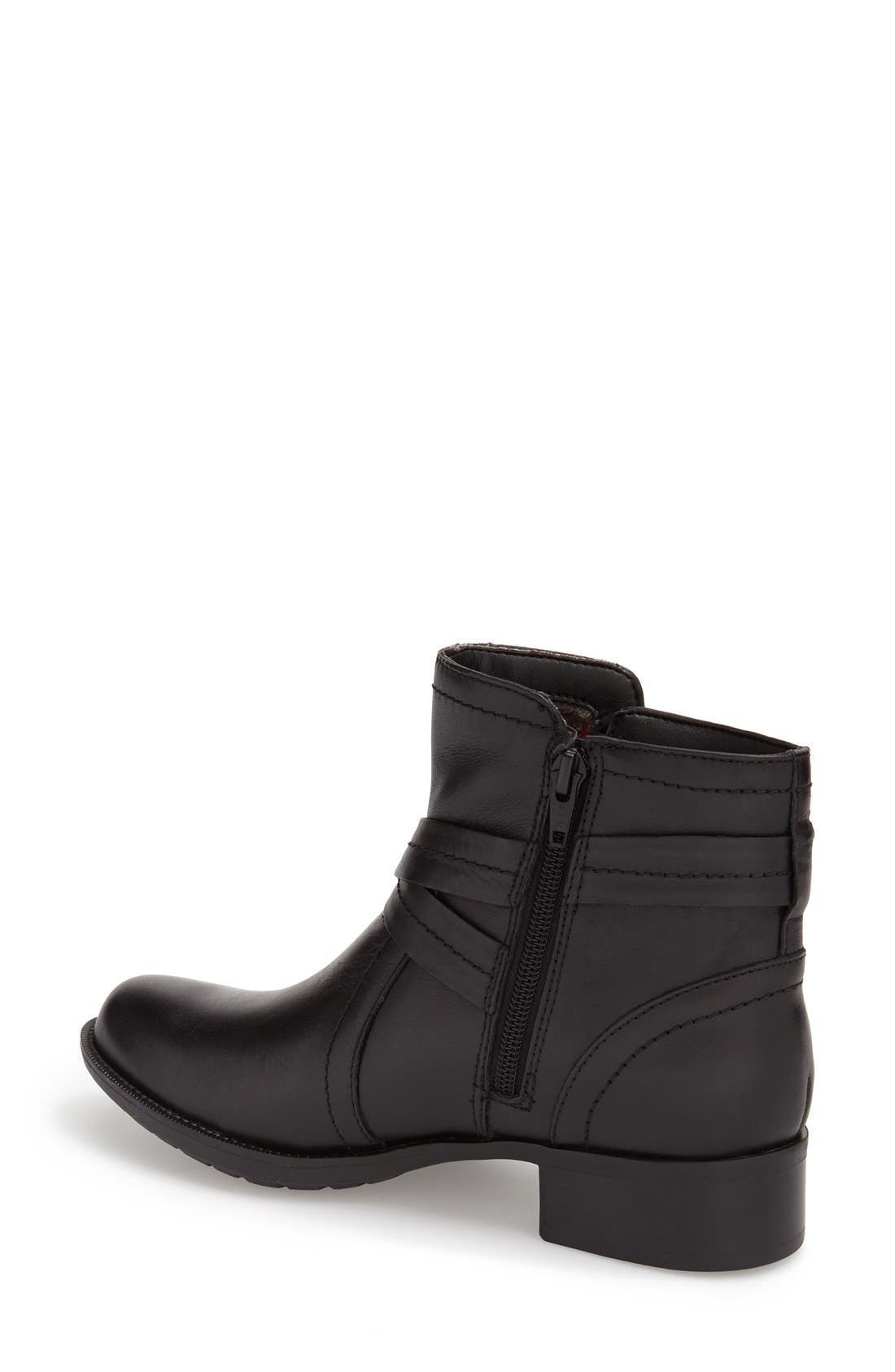 Caroline Waterproof Boot,                             Alternate thumbnail 2, color,                             BLACK LEATHER