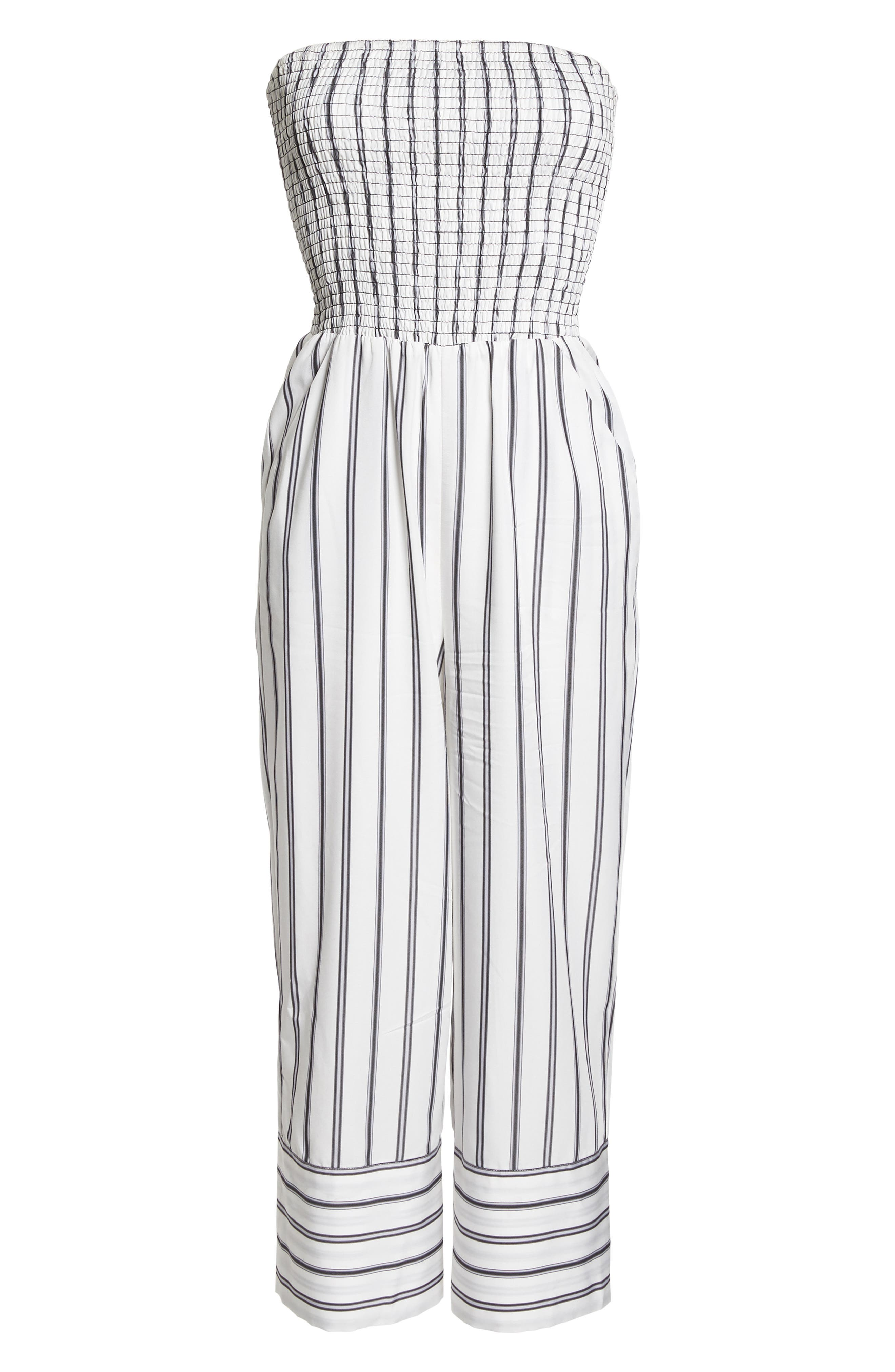 Get in the Grove Stripe Strapless Jumpsuit,                             Alternate thumbnail 7, color,                             169