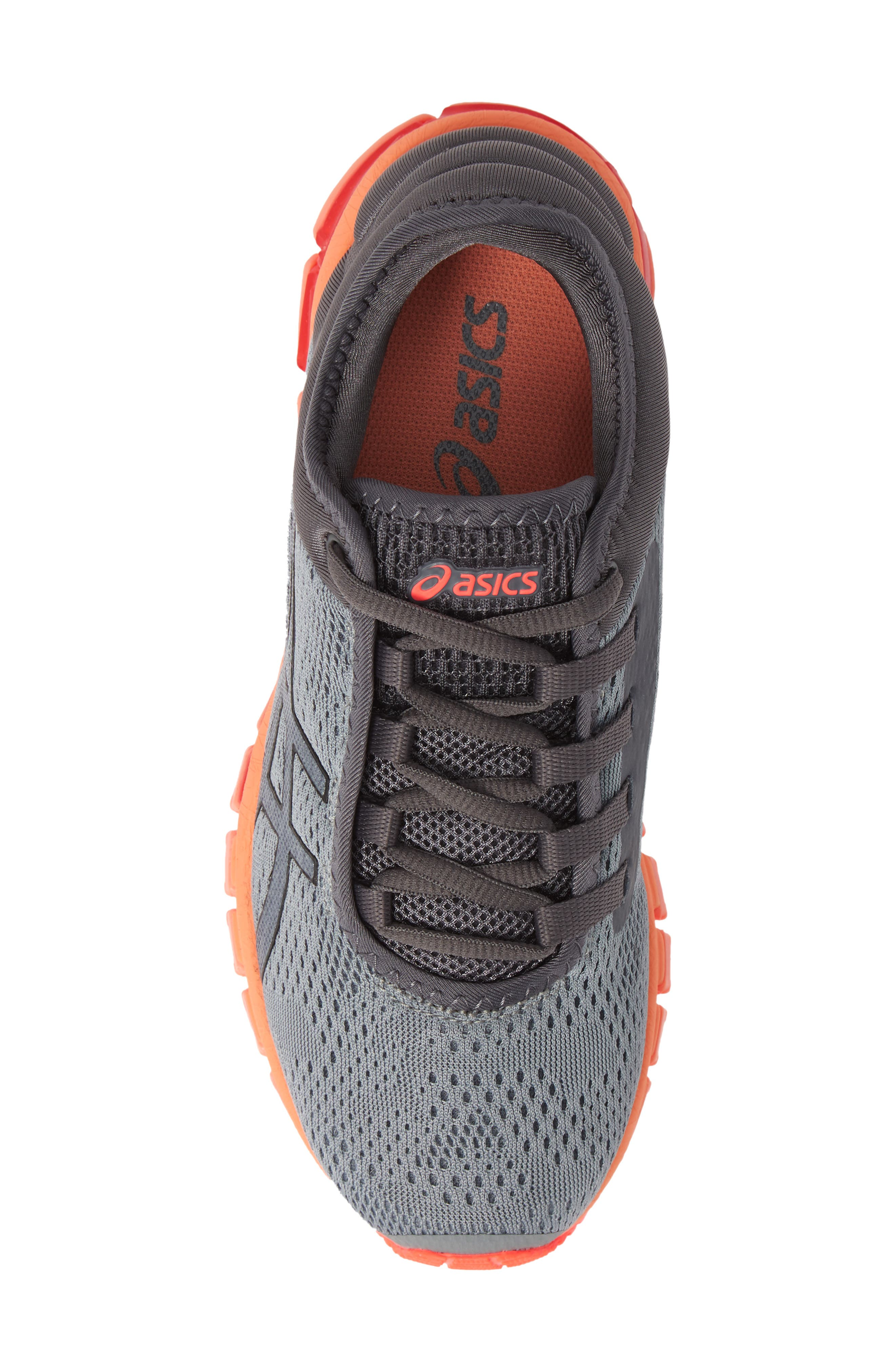 GEL Quantum 180 3 Running Shoe,                             Alternate thumbnail 5, color,                             STONE GREY/ CARBON