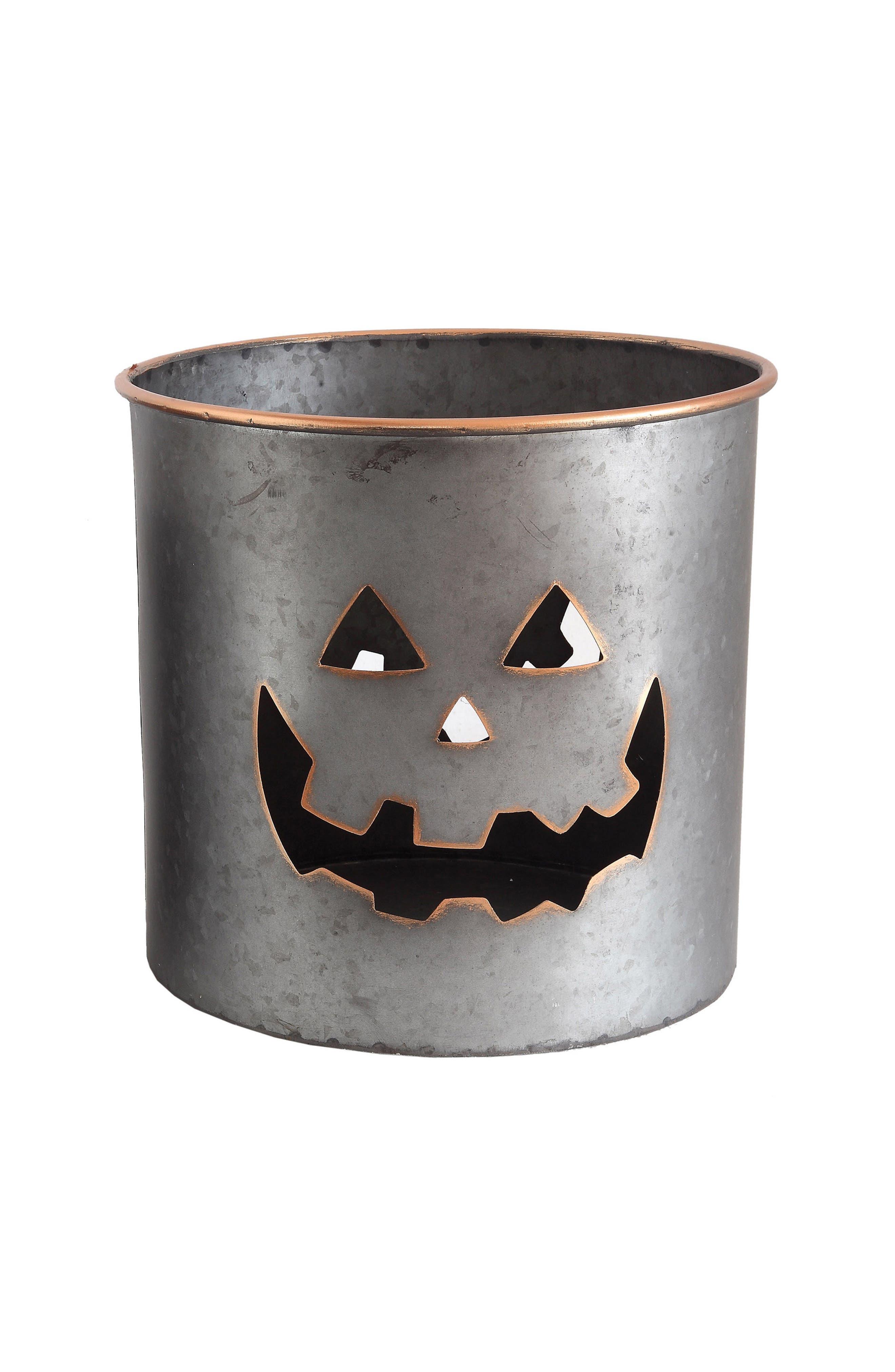 Pumpkin Metal Bucket,                             Main thumbnail 1, color,                             040