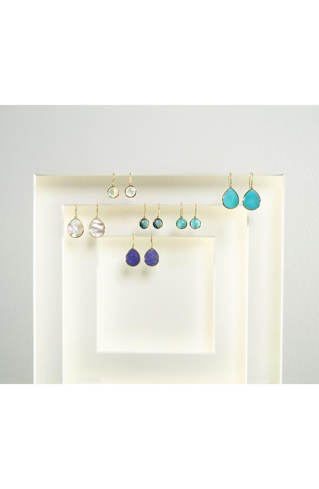 'Rock Candy - Mini Lollipop' 18k Gold Drop Earrings,                             Alternate thumbnail 2, color,                             YELLOW GOLD/TURQUOISE