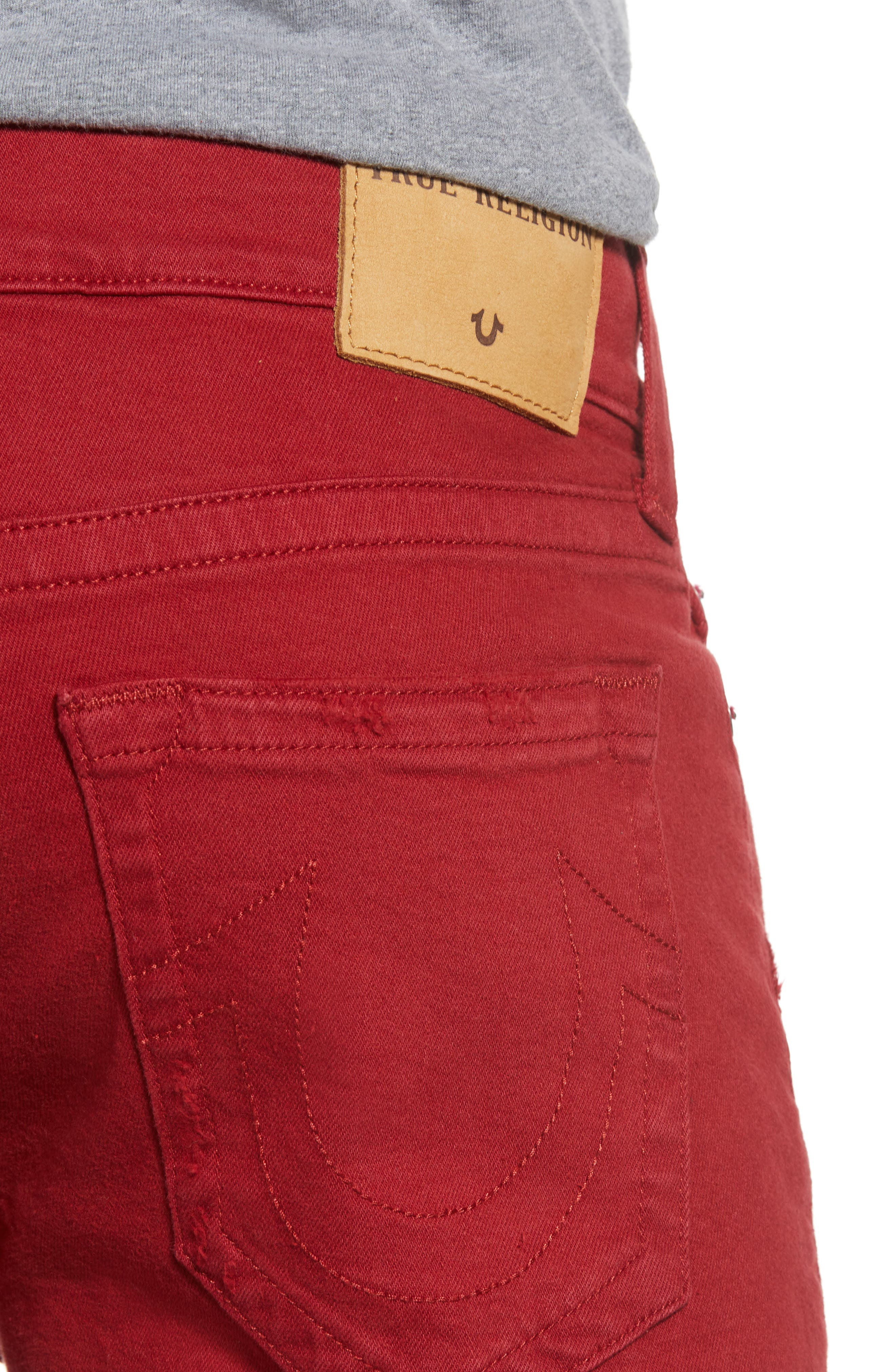 Ricky Relaxed Fit Shorts,                             Alternate thumbnail 4, color,                             FIRECRACKER RED