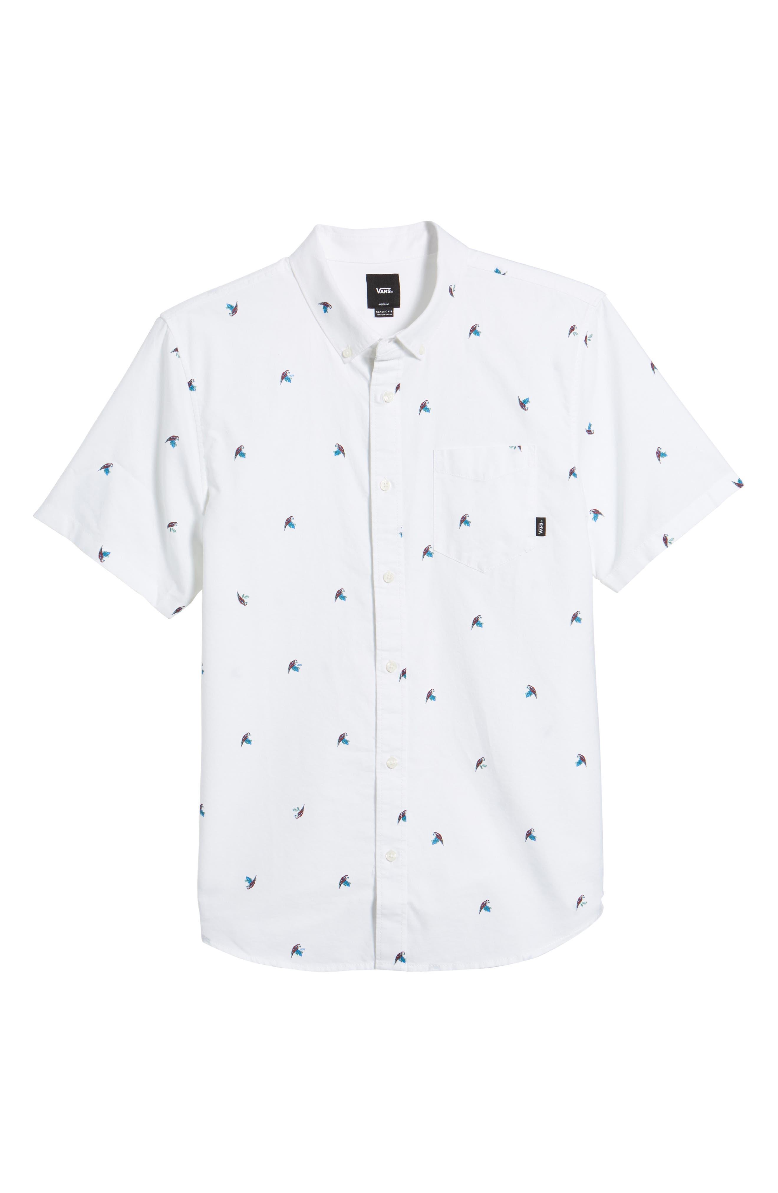 Houser Short Sleeve Shirt,                             Alternate thumbnail 6, color,                             100