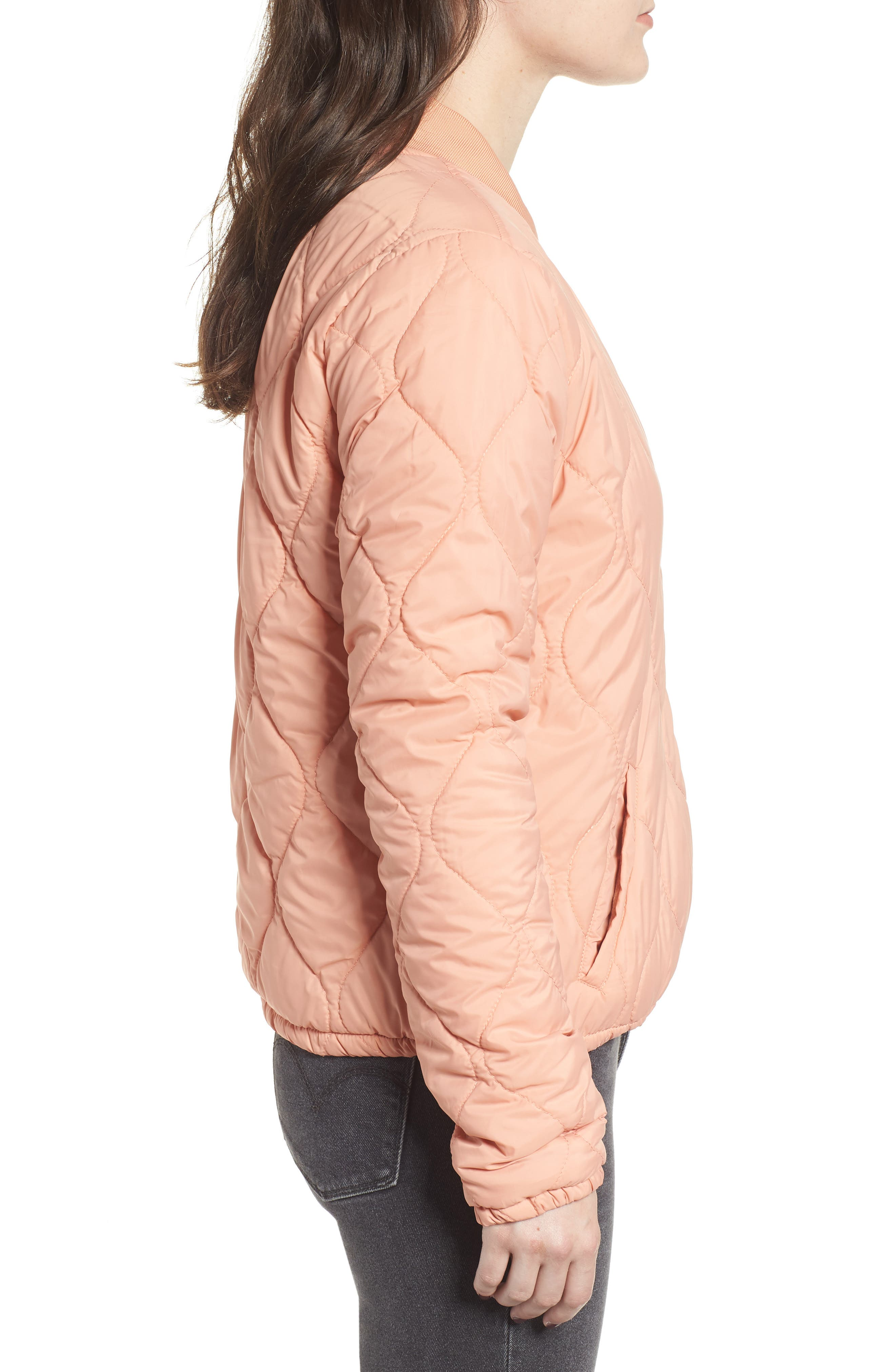 OBEY,                             Bunker Quilted Bomber Jacket,                             Alternate thumbnail 4, color,                             950