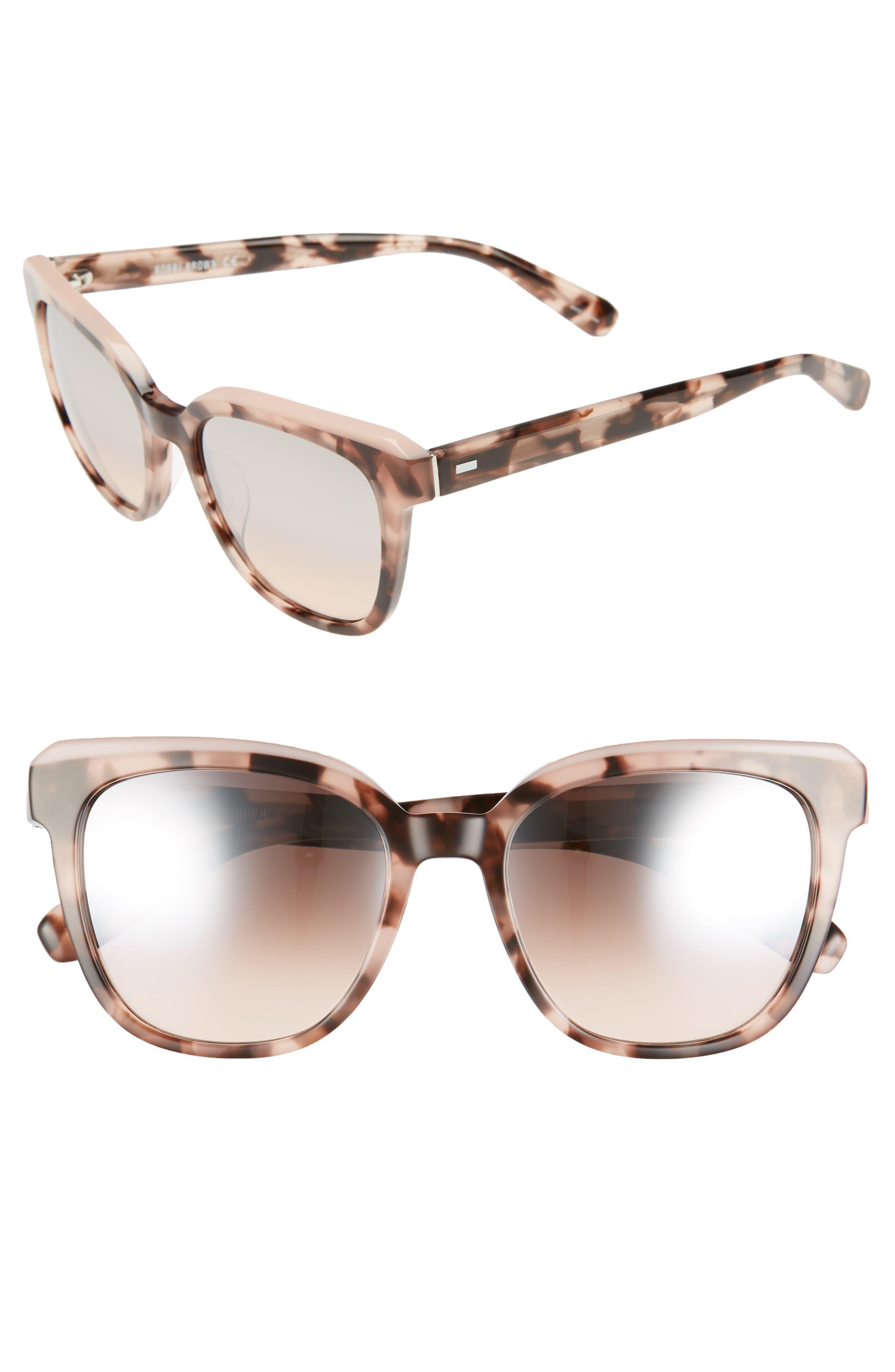 The Bardot 53mm Gradient Sunglasses,                             Main thumbnail 3, color,