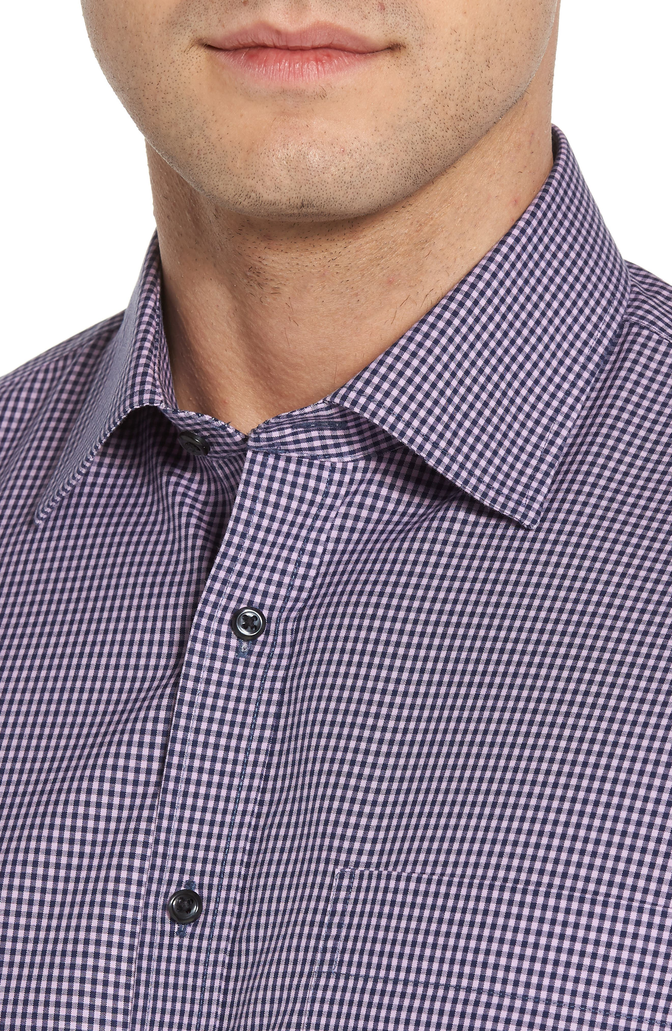 Smartcare Classic Fit Check Dress Shirt,                             Alternate thumbnail 7, color,
