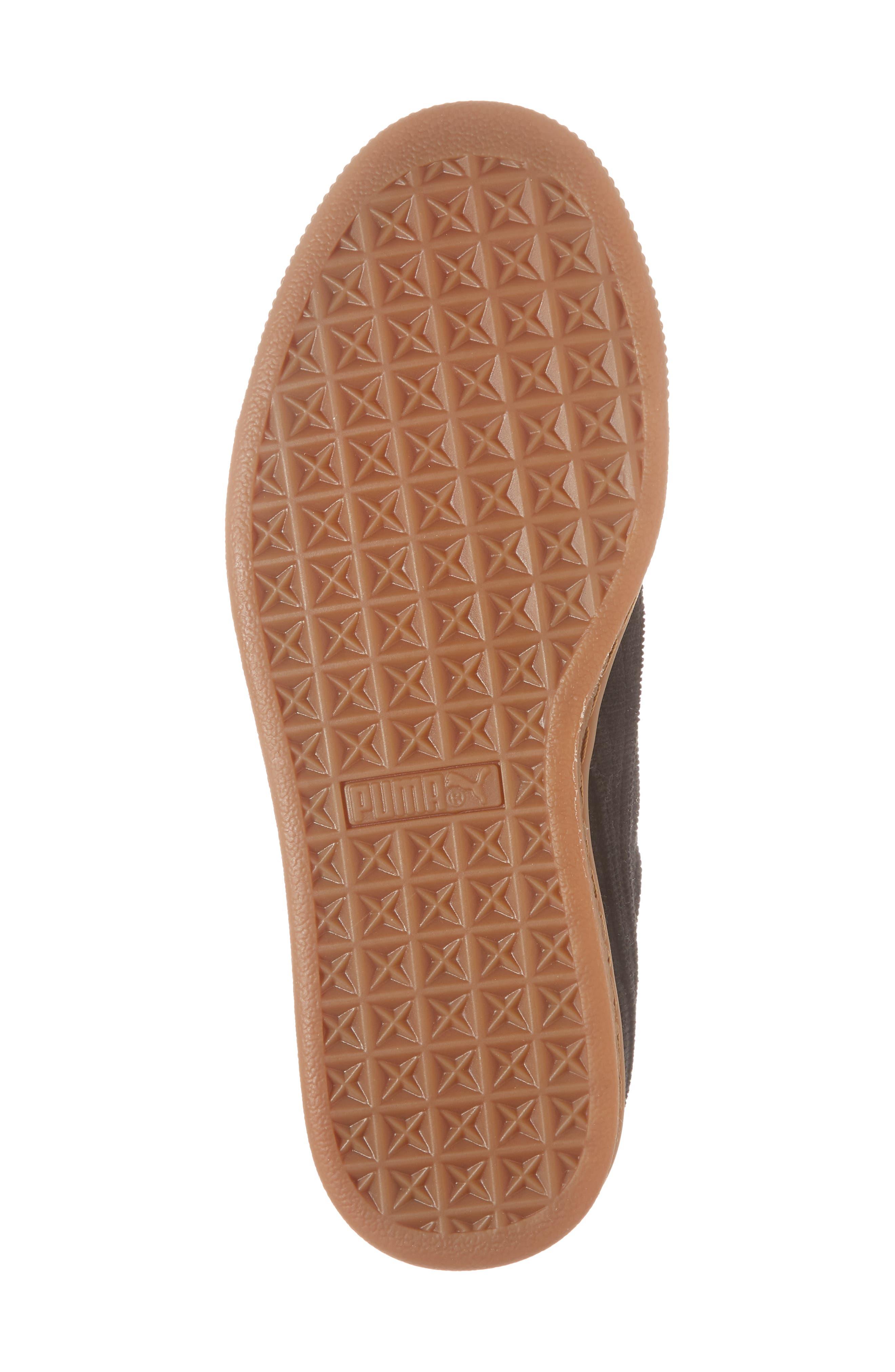 Basket Heart Sneaker,                             Alternate thumbnail 6, color,                             BLACK/ PUMA BLACK