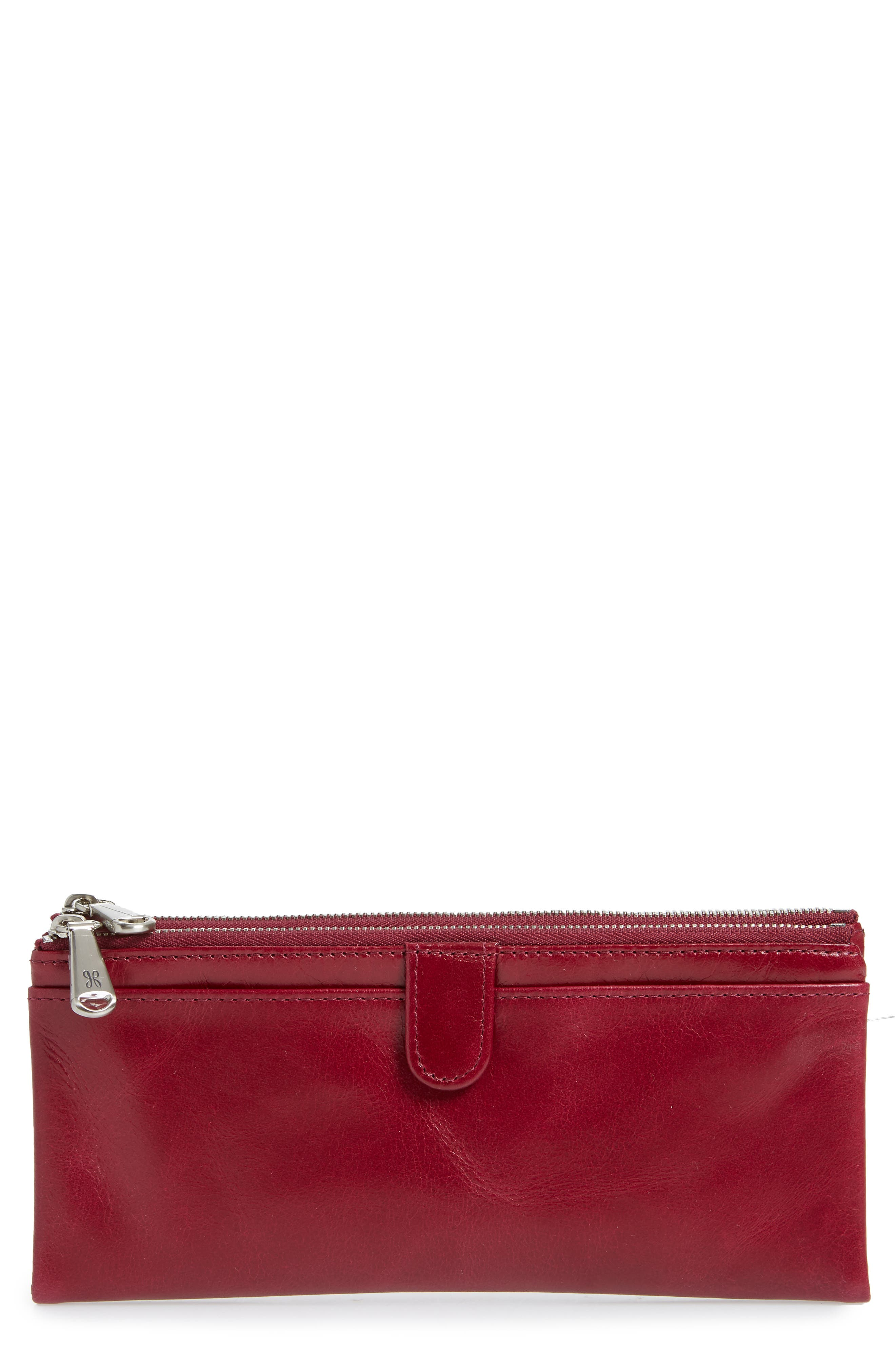 Taylor Glazed Wallet,                         Main,                         color, RUBY