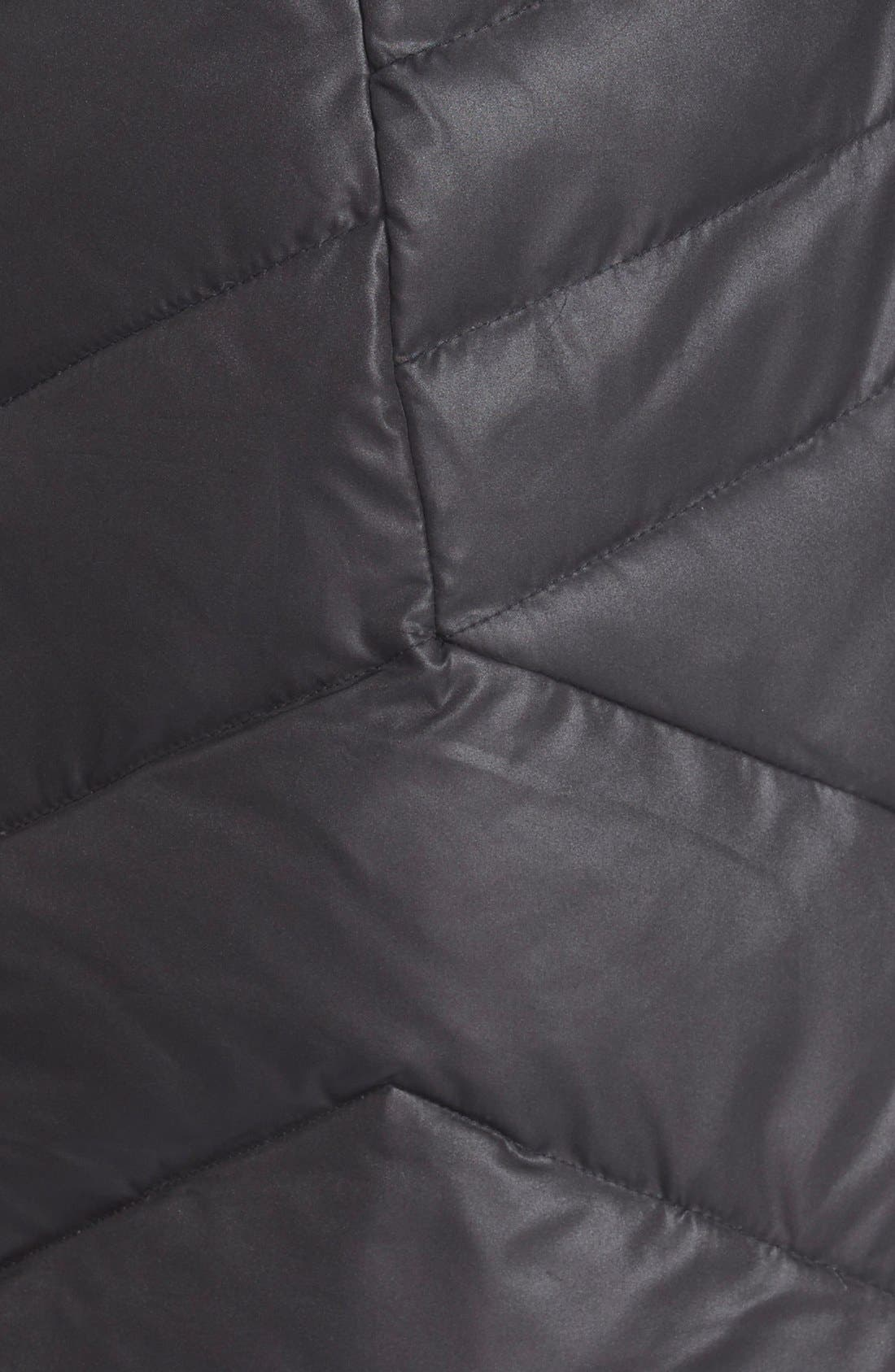 'Mia' FauxFur Trim Hooded Down Coat,                             Alternate thumbnail 3, color,                             001
