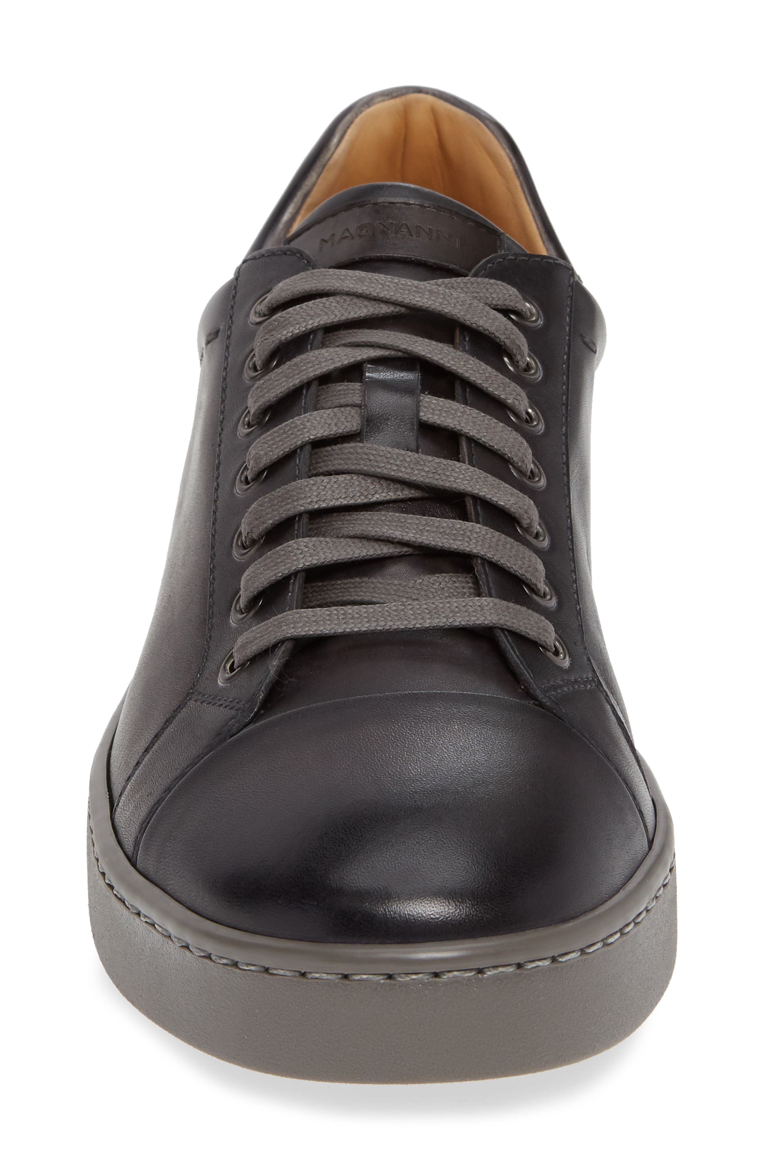 Caitin Sneaker,                             Alternate thumbnail 4, color,                             GREY/ GREY LEATHER