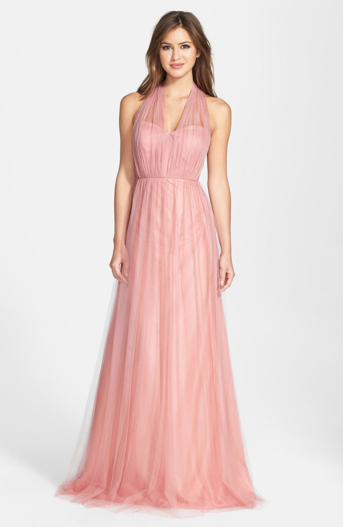 Annabelle Convertible Tulle Column Dress,                             Main thumbnail 10, color,