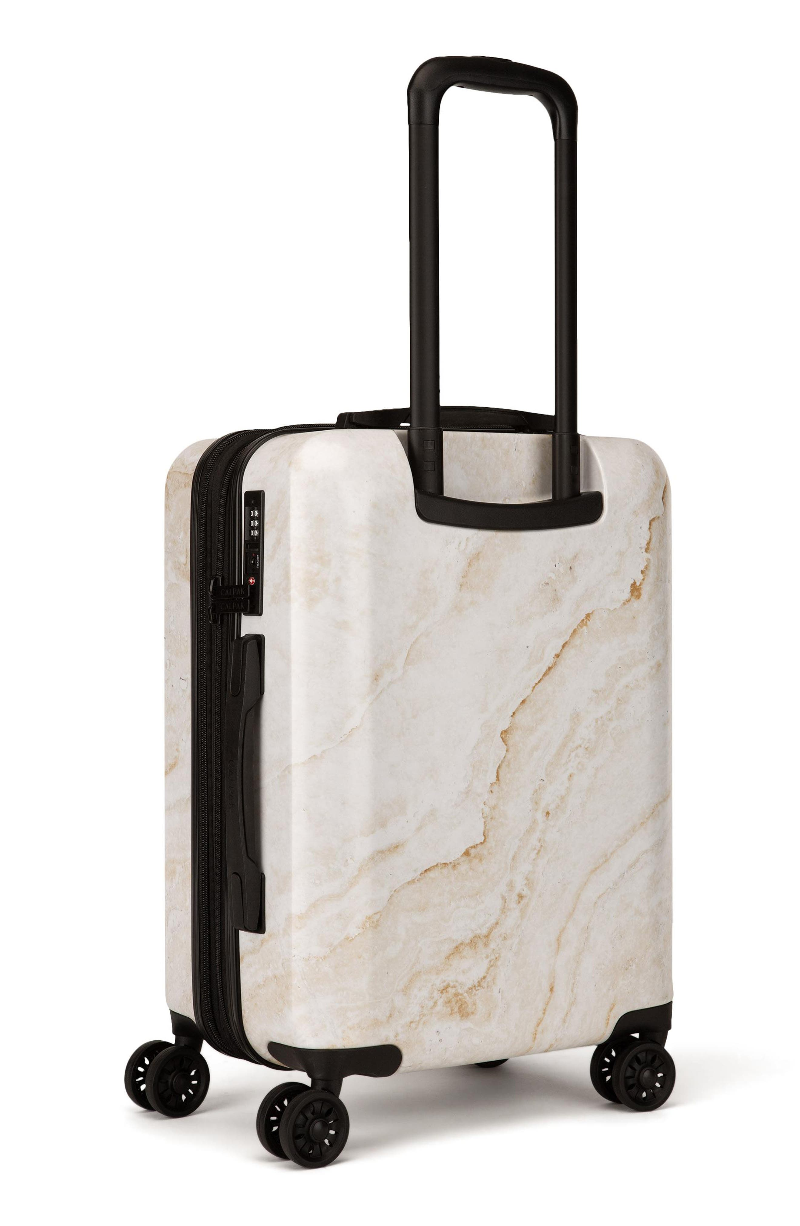 Gold Marble 22-Inch Rolling Spinner Carry-On,                             Alternate thumbnail 3, color,                             GOLD MARBLE