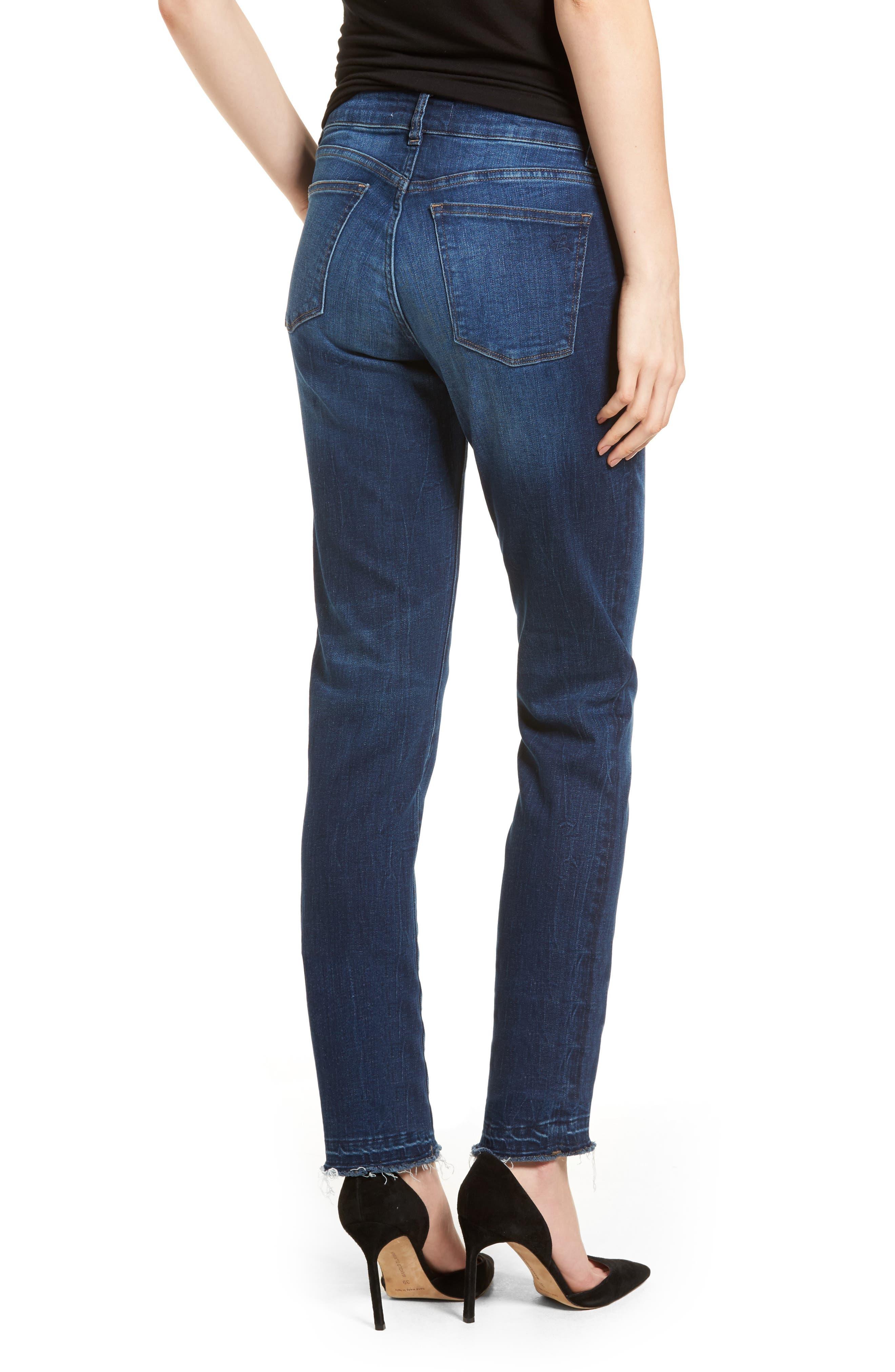 Coco Curvy Slim Straight Leg Jeans,                             Alternate thumbnail 2, color,