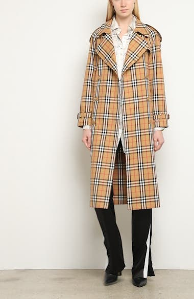 Eastheath Vintage Check Trench Coat, video thumbnail