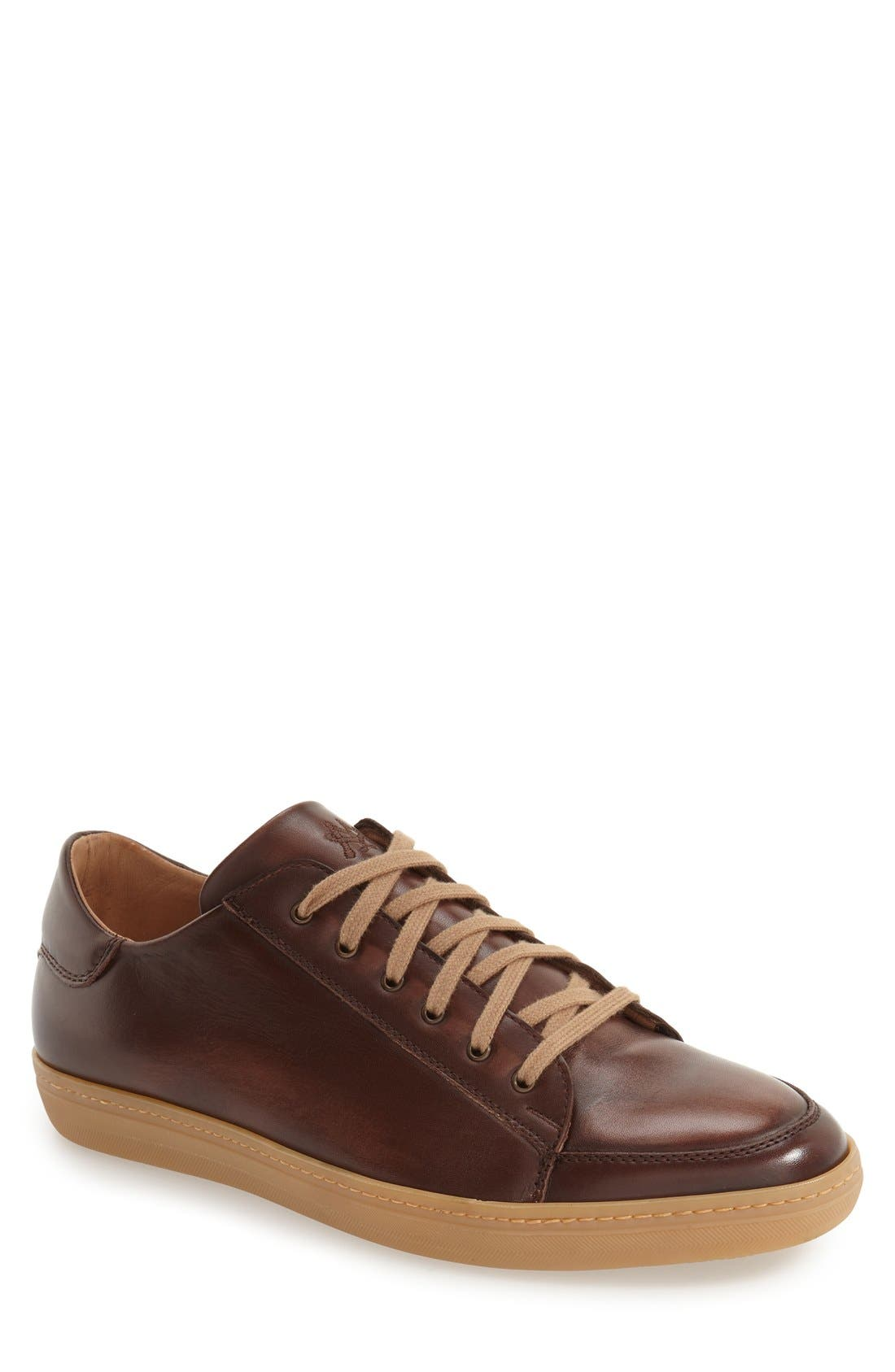 'Masi' Lace-Up Sneaker,                         Main,                         color, BROWN