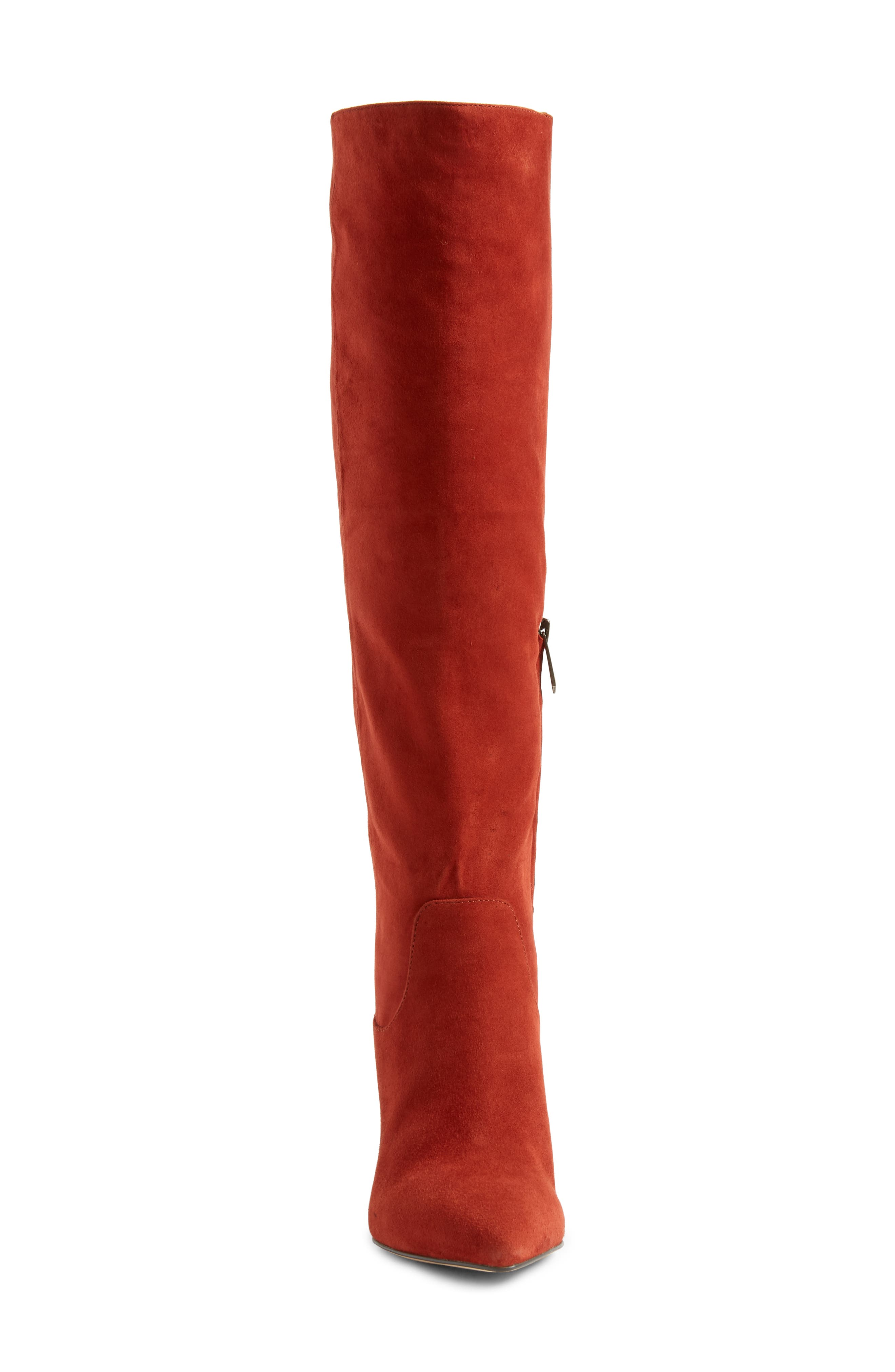 Hai Knee High Boot,                             Alternate thumbnail 4, color,                             PAPRIKA SUEDE