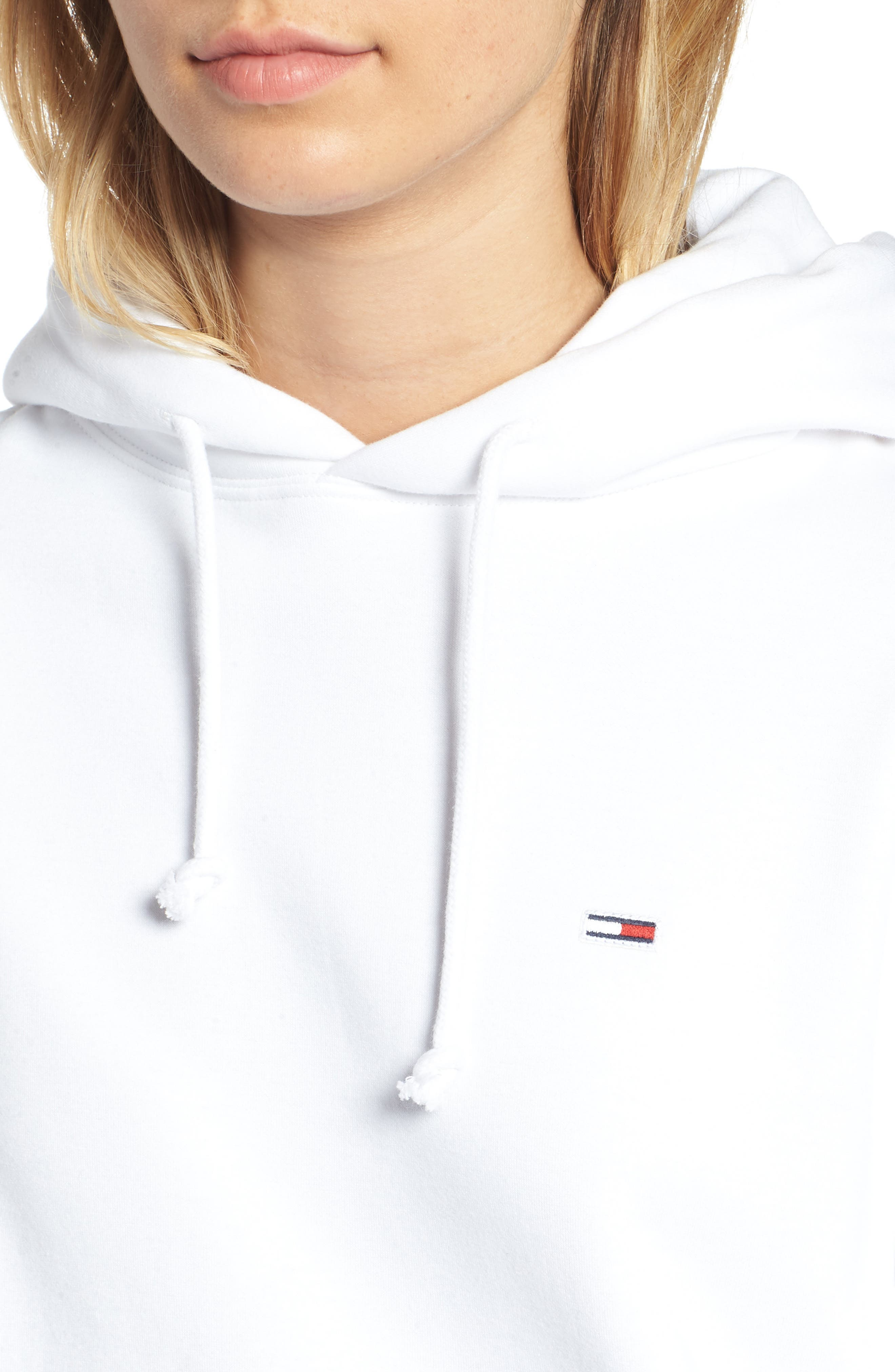 TJW Tommy Classics Hoodie,                             Alternate thumbnail 4, color,                             BRIGHT WHITE