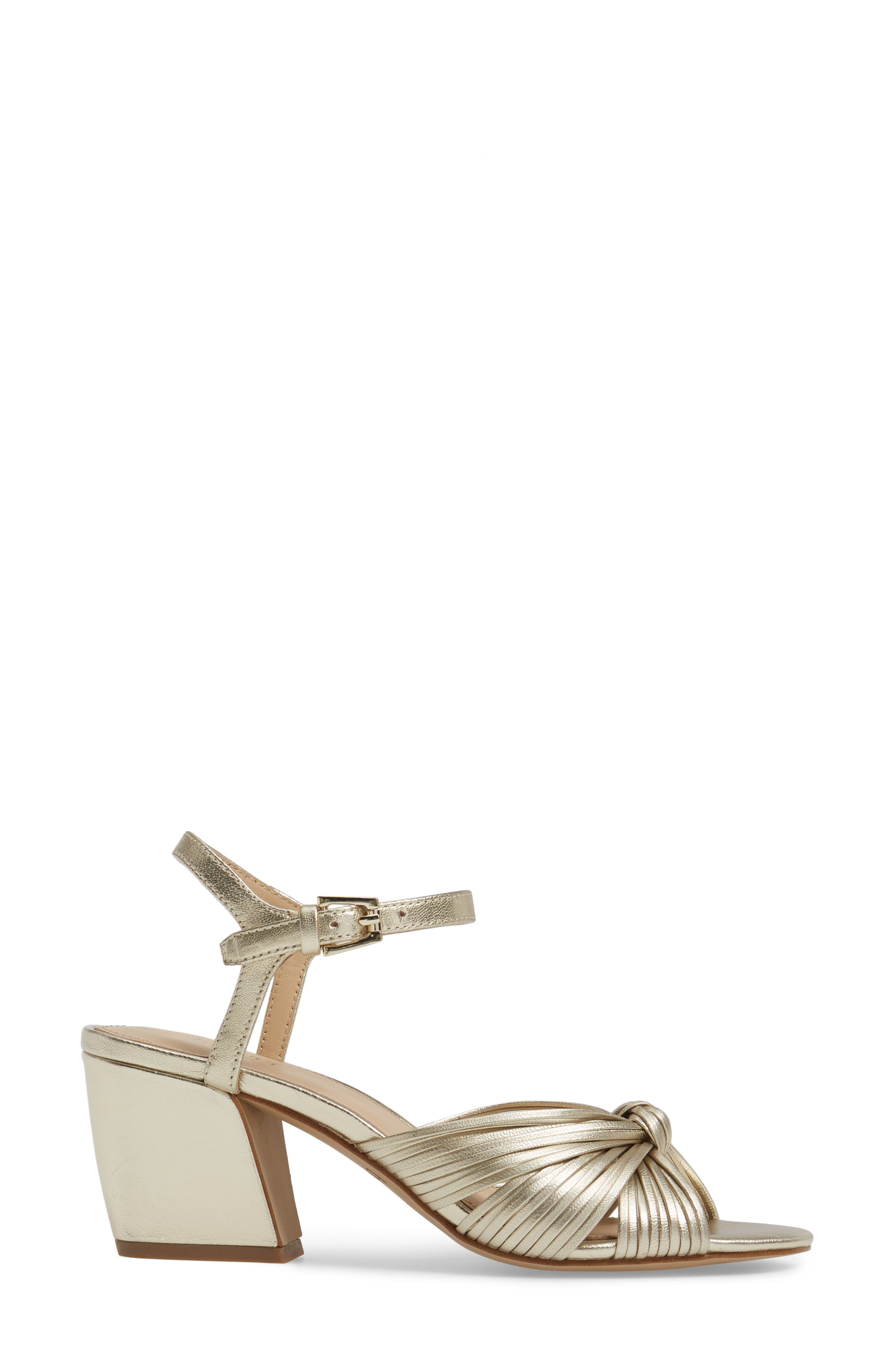 Patsy Block Heel Sandal,                             Alternate thumbnail 3, color,                             100