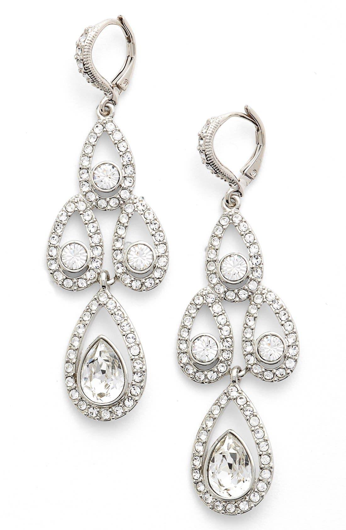 Crystal Chandelier Drop Earrings,                         Main,                         color, 040