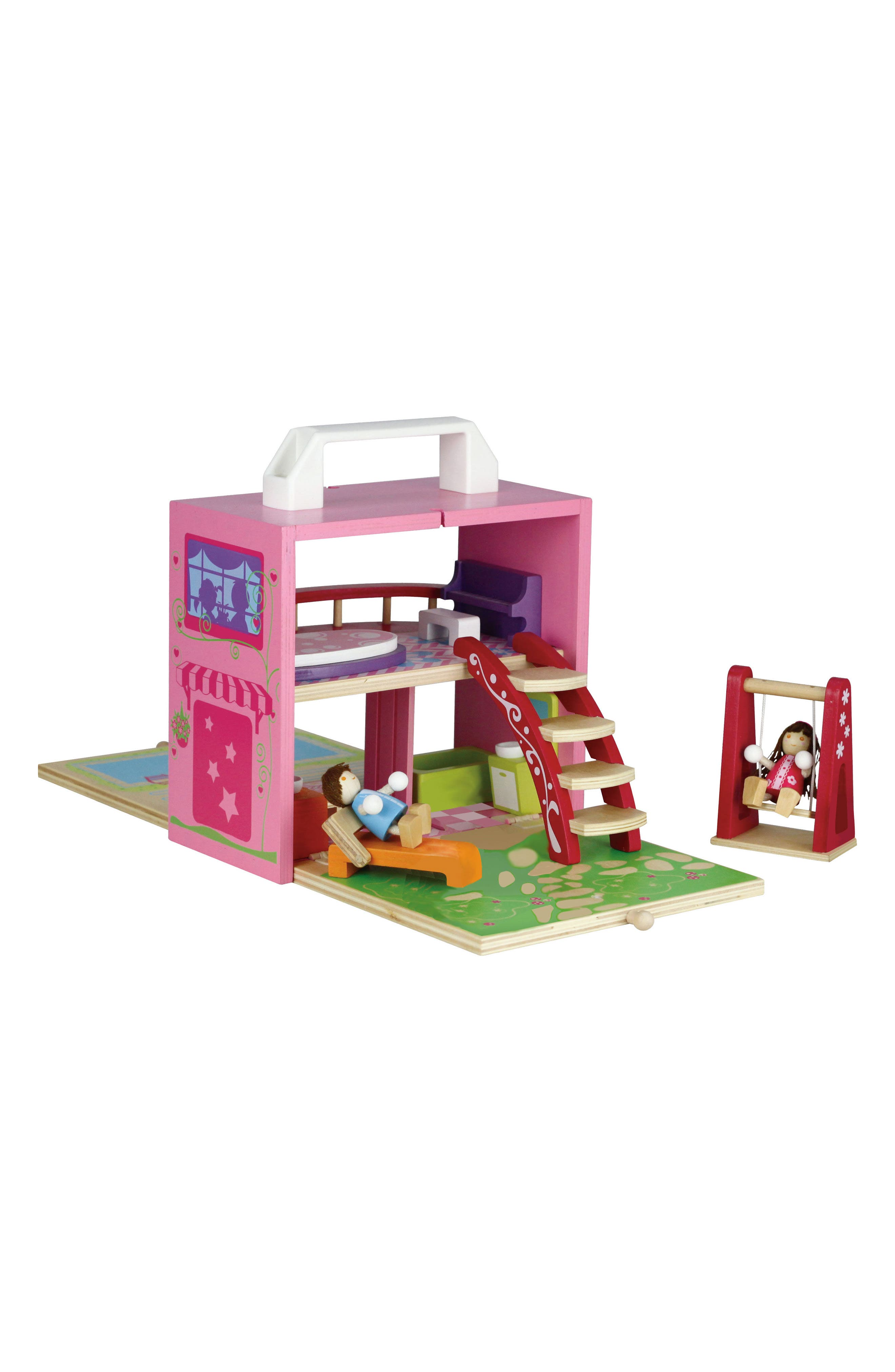 13-Piece Wooden Dollhouse Box Set,                             Main thumbnail 1, color,                             650