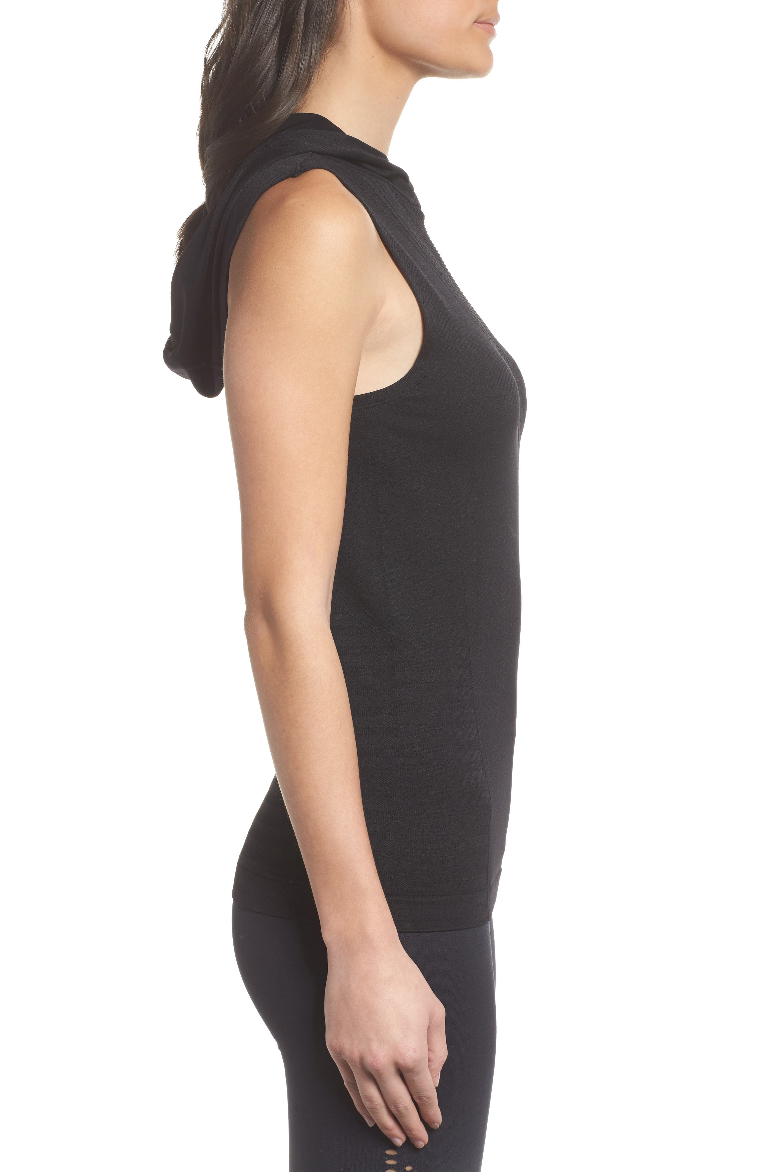 CLIMAWEAR,                             Velocity Sleeveless Hoodie,                             Alternate thumbnail 3, color,                             001