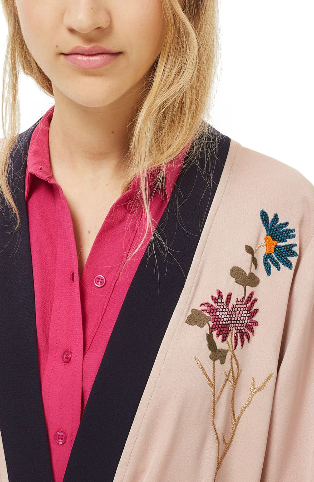 Tiger Embroidered Duster Coat,                             Alternate thumbnail 3, color,                             250