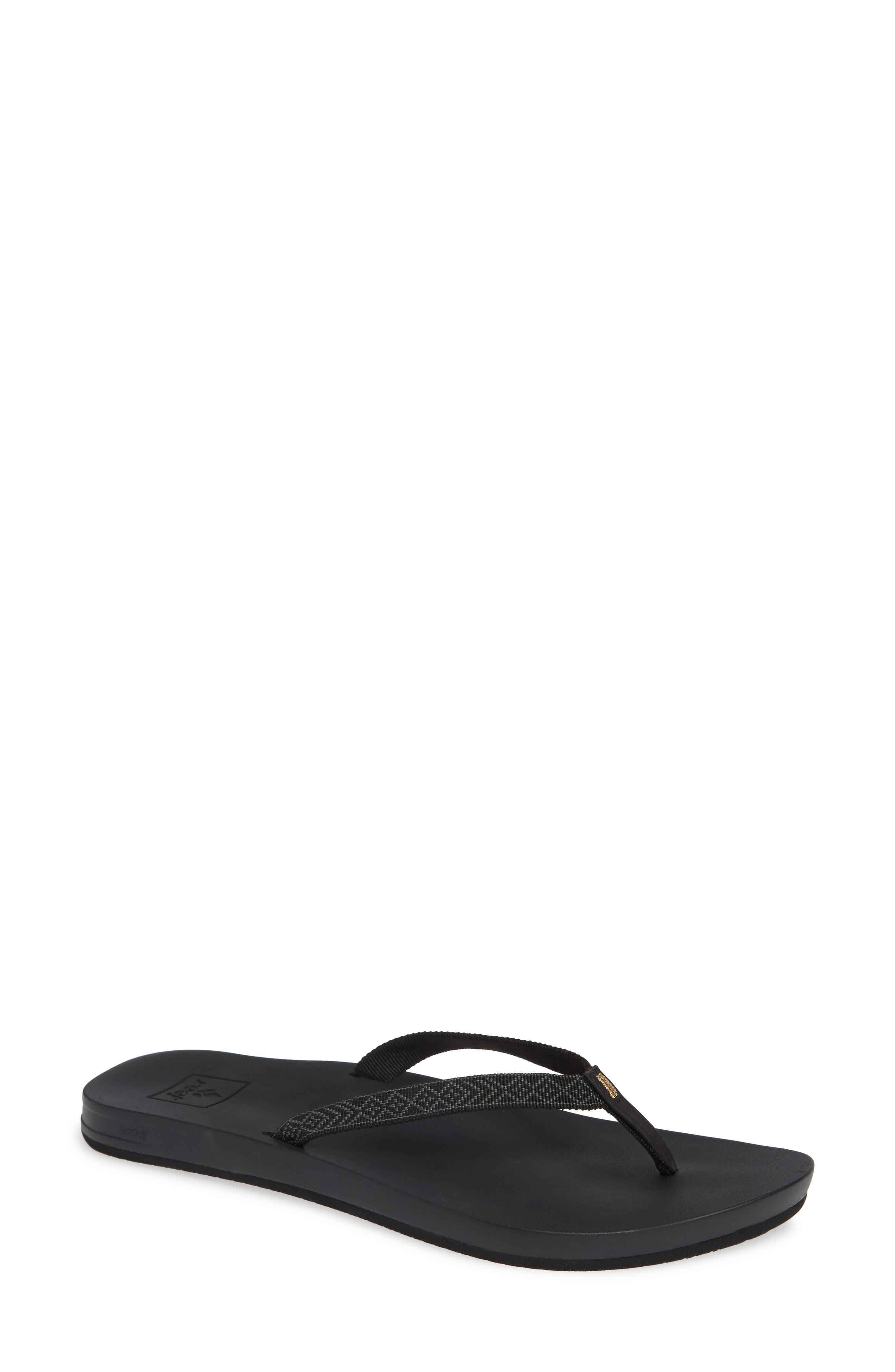 Cushion Bounce Flip Flop,                         Main,                         color, BLACK