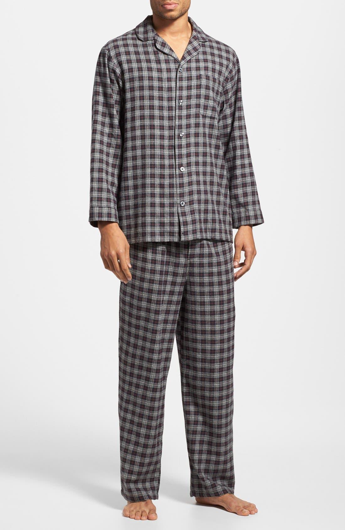 '824' Flannel Pajama Set,                             Main thumbnail 14, color,