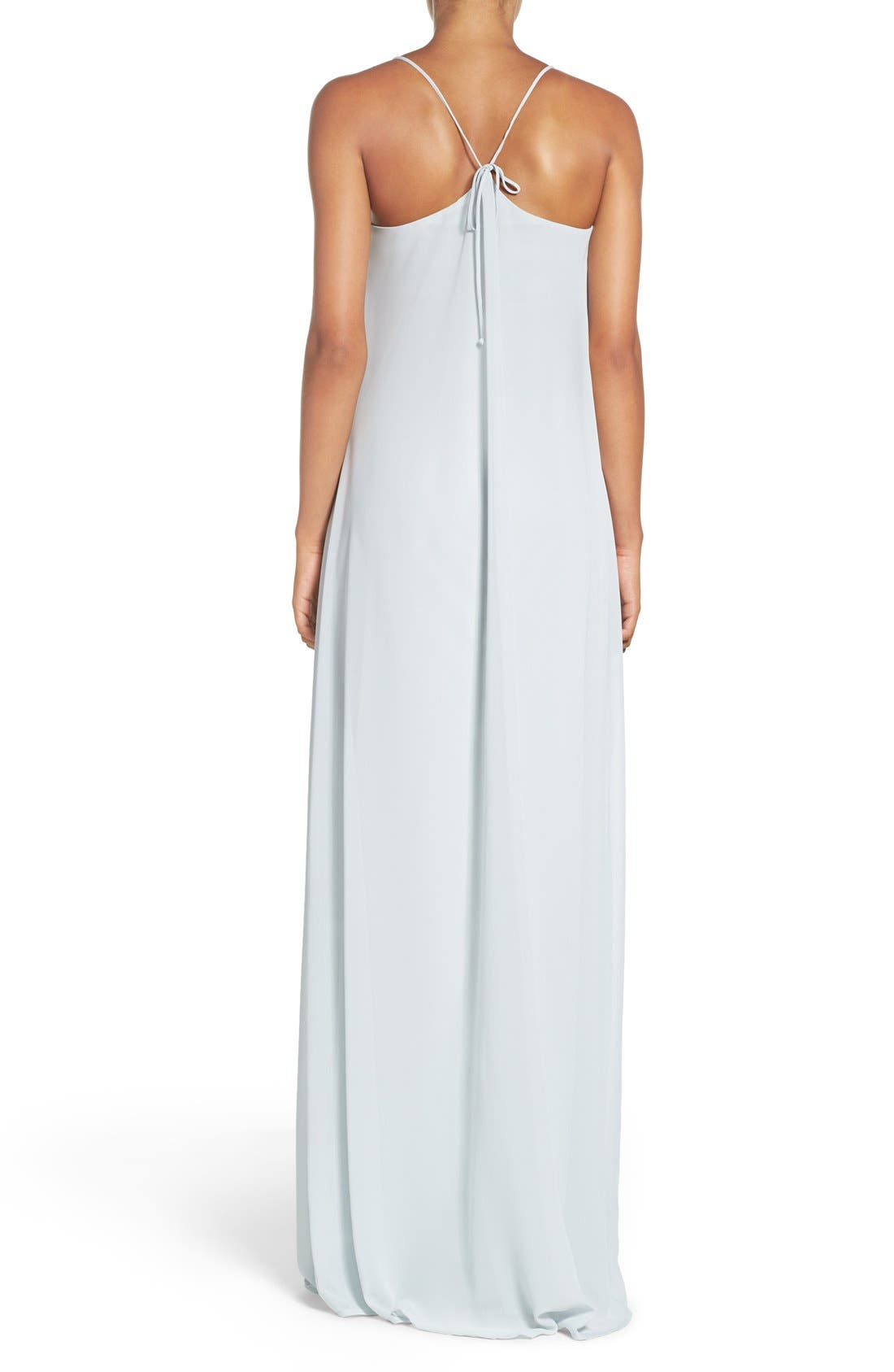 'Willa' V-Neck Trapeze Gown,                             Alternate thumbnail 2, color,                             451