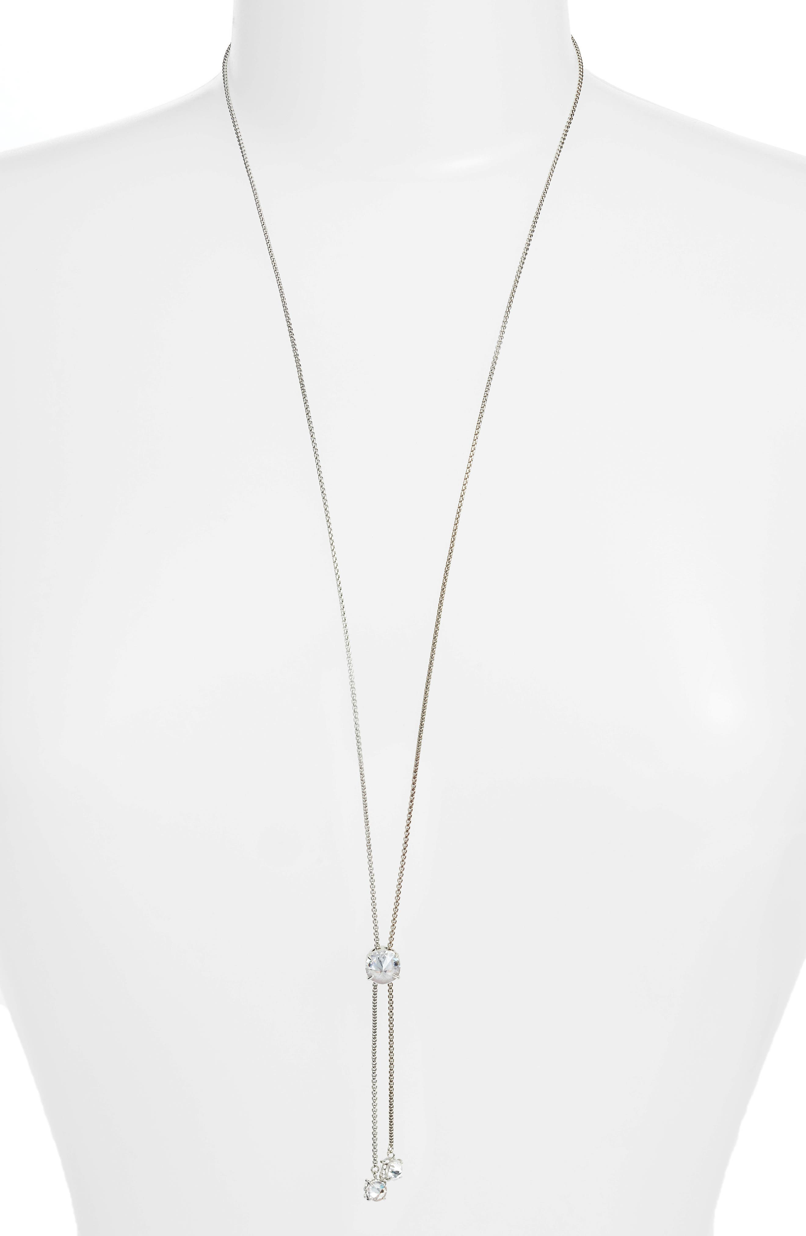 Slider Sparkle Necklace,                         Main,                         color, 041