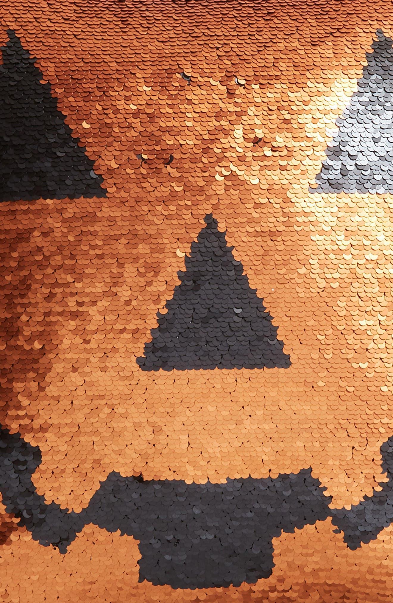 Pumpkin Sequin Accent Pillow,                             Alternate thumbnail 3, color,                             800