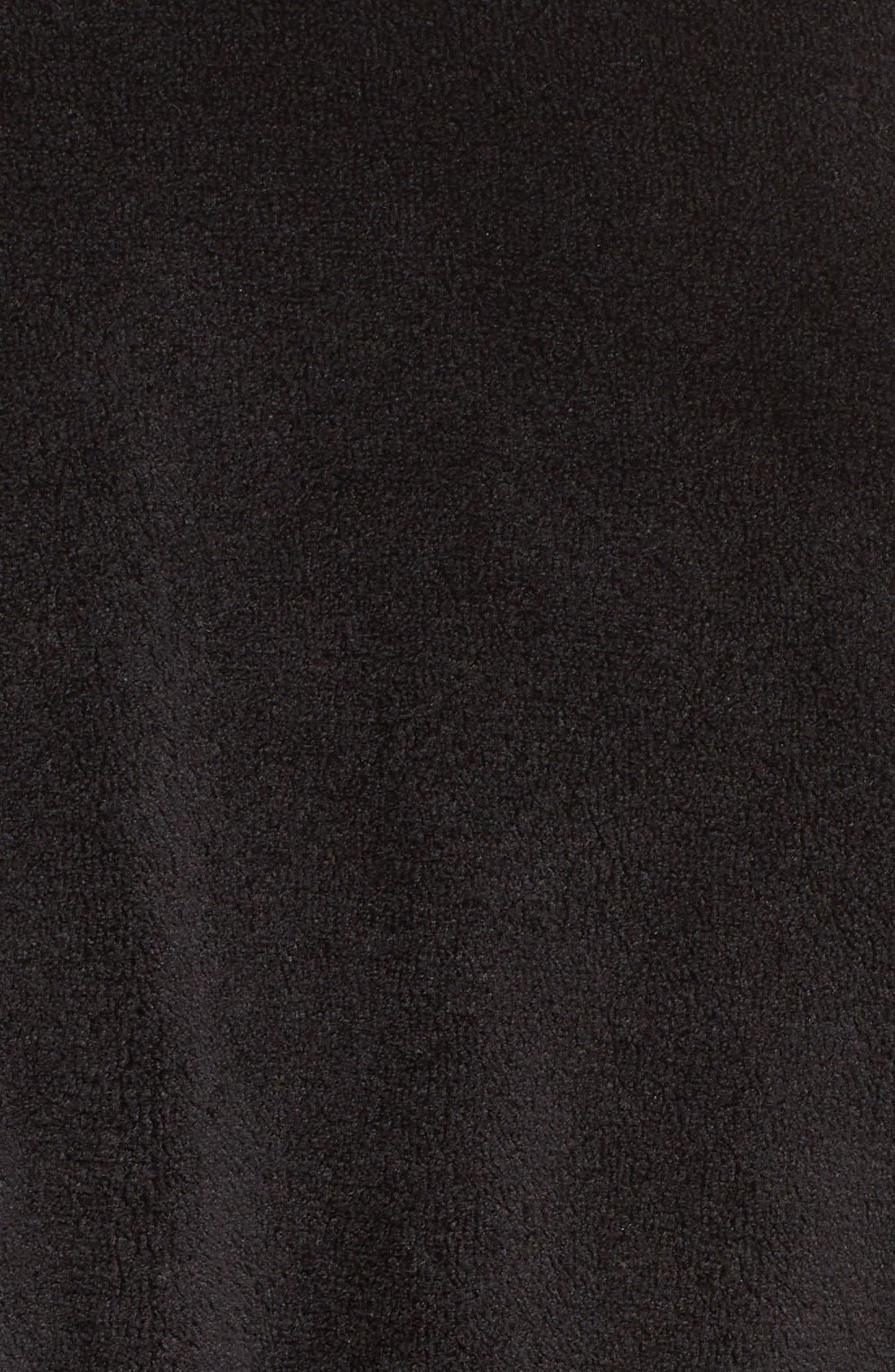 Midi Chenille Robe,                             Alternate thumbnail 4, color,                             001